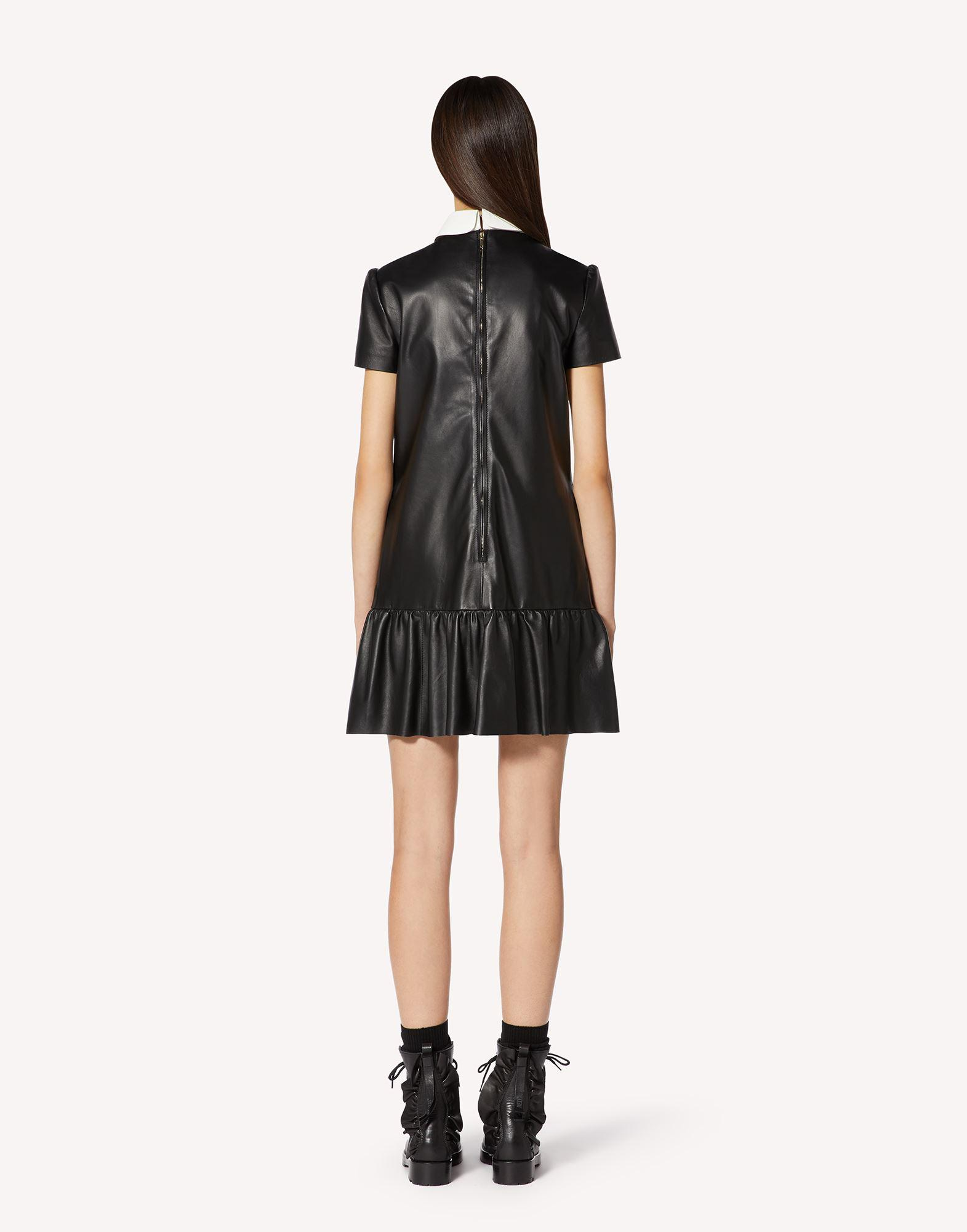 NAPPA LEATHER DRESS WITH COLLAR DETAIL 1