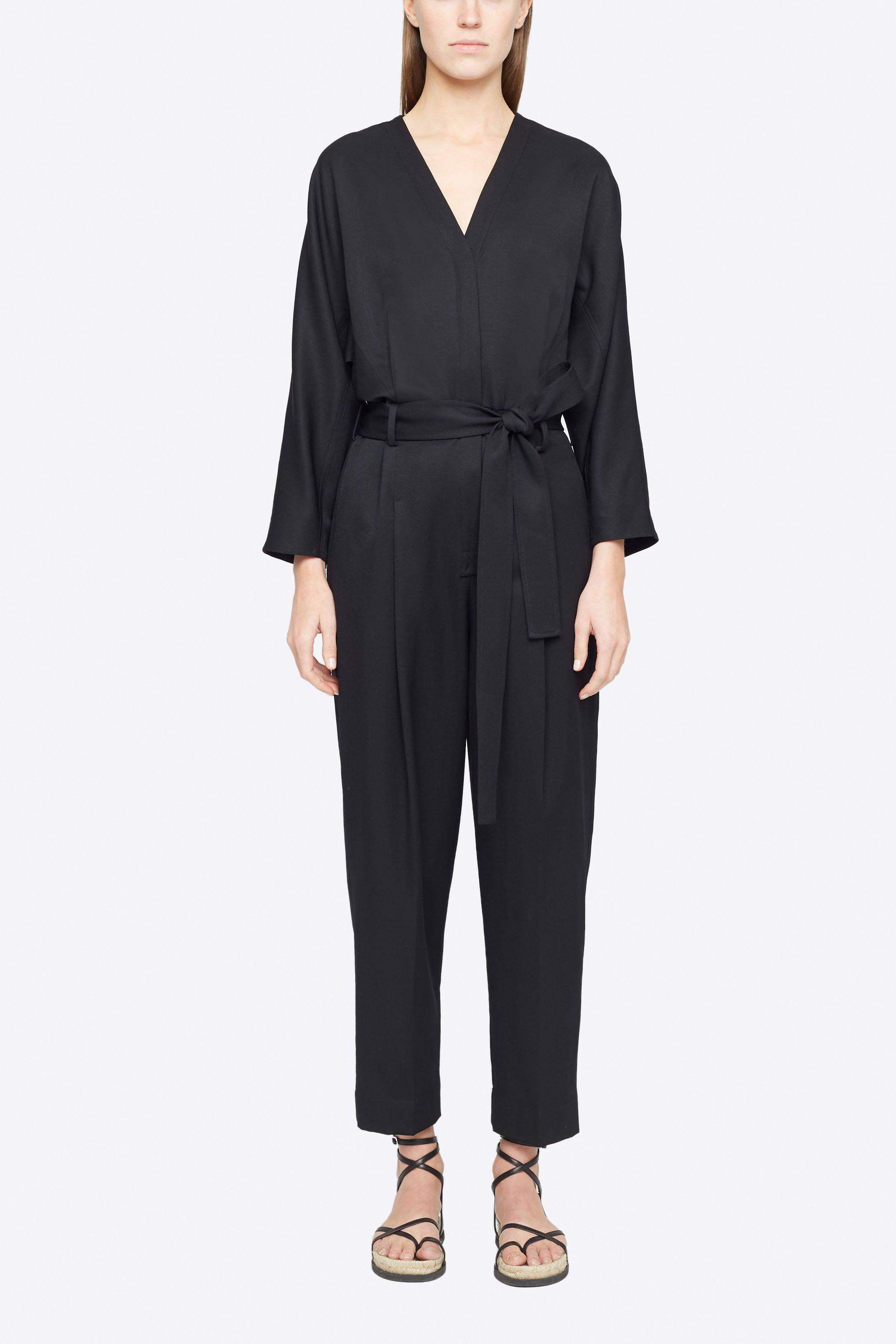 Wool Belted Jumpsuit