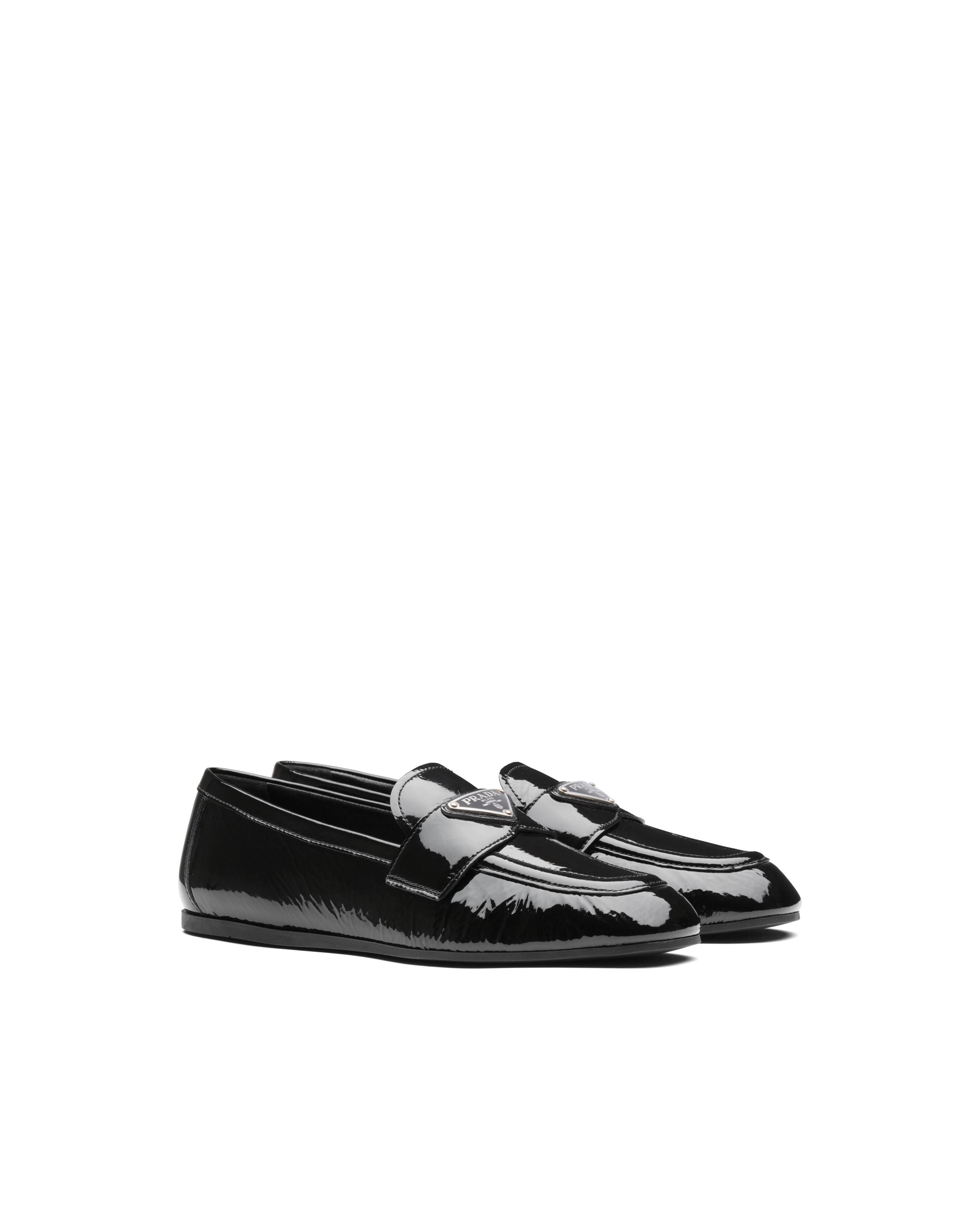 Patent Leather Loafers Women Black Size 36 4