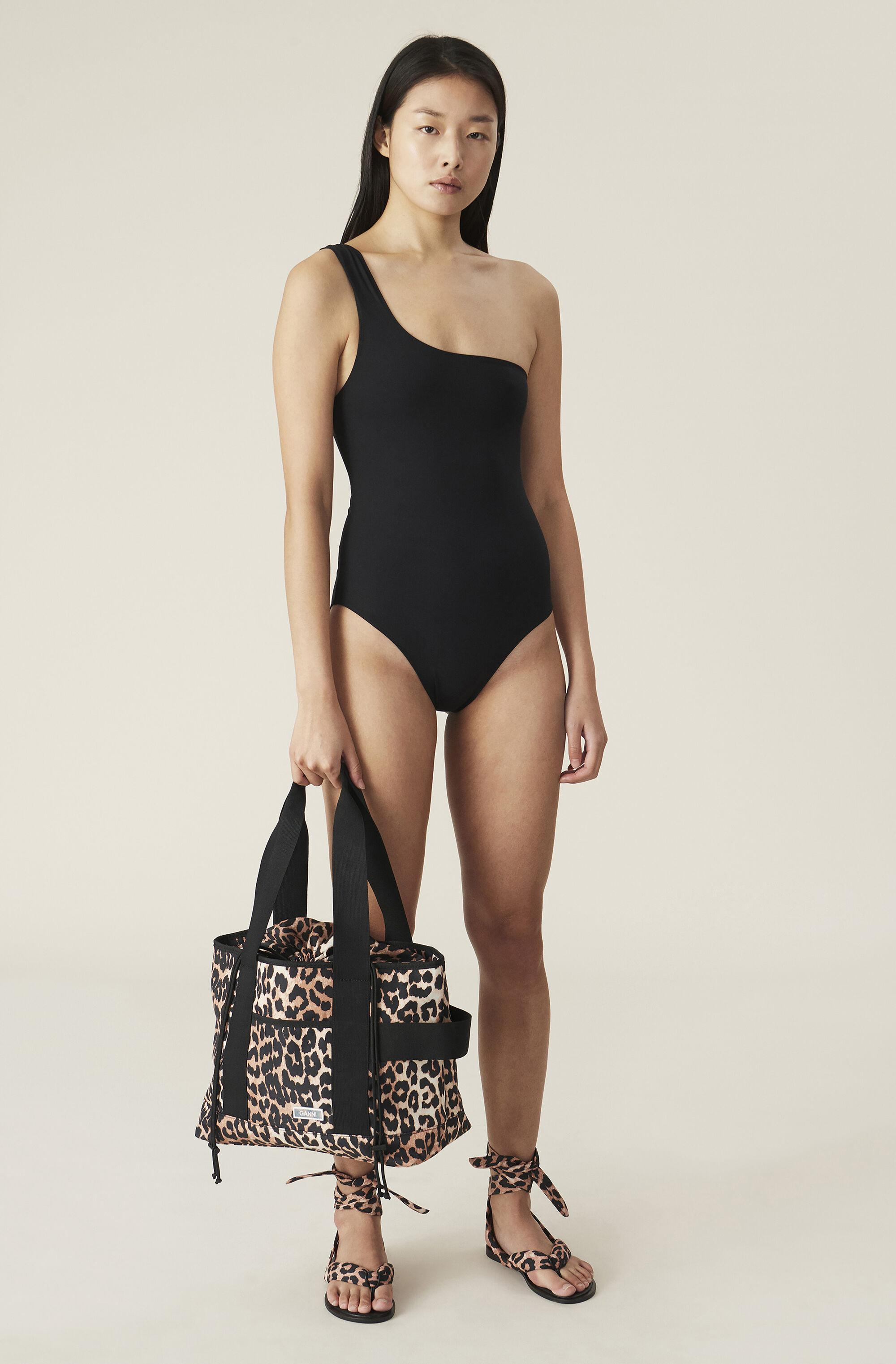 Recycled Solid One Shoulder Swimsuit