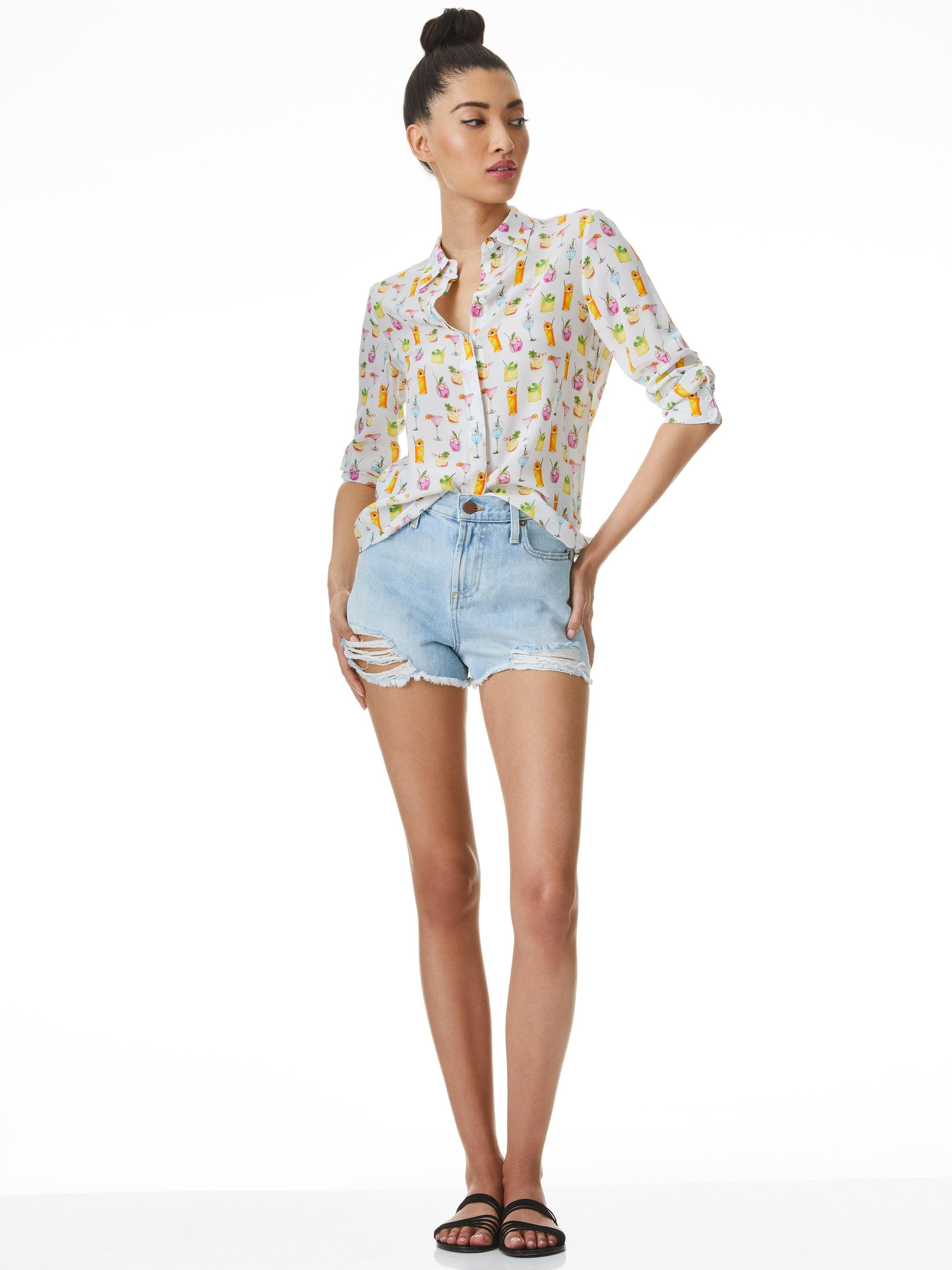 WILLA COCKTAIL PRINT PLACKET TOP 3