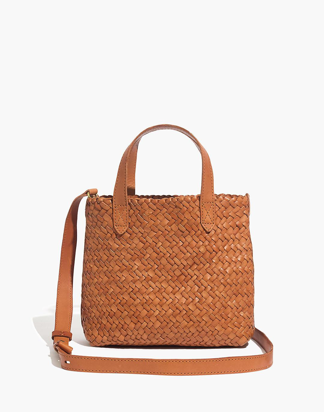 The Small Transport Crossbody: Woven Leather Edition