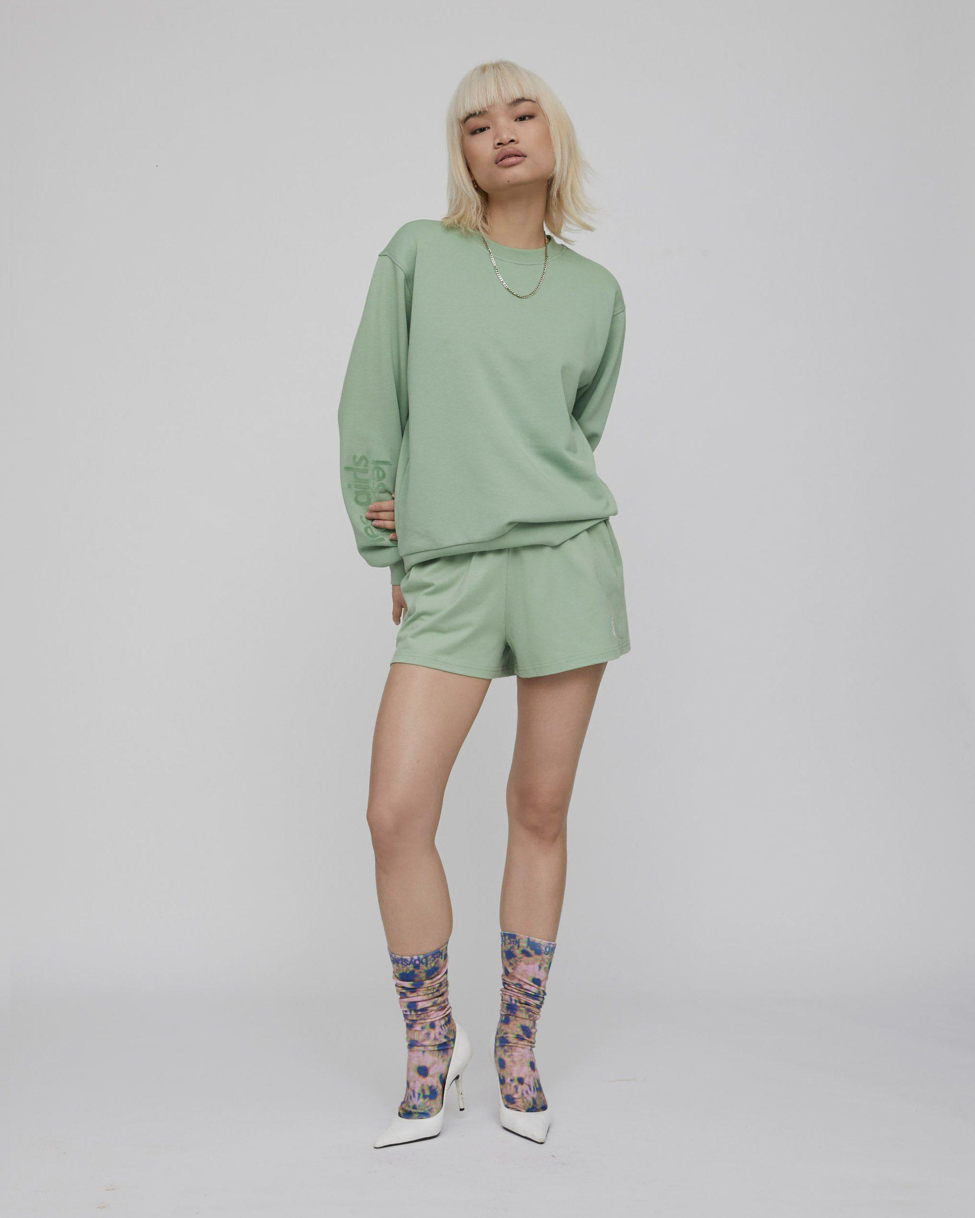 deconstructed loose shorts sage 1