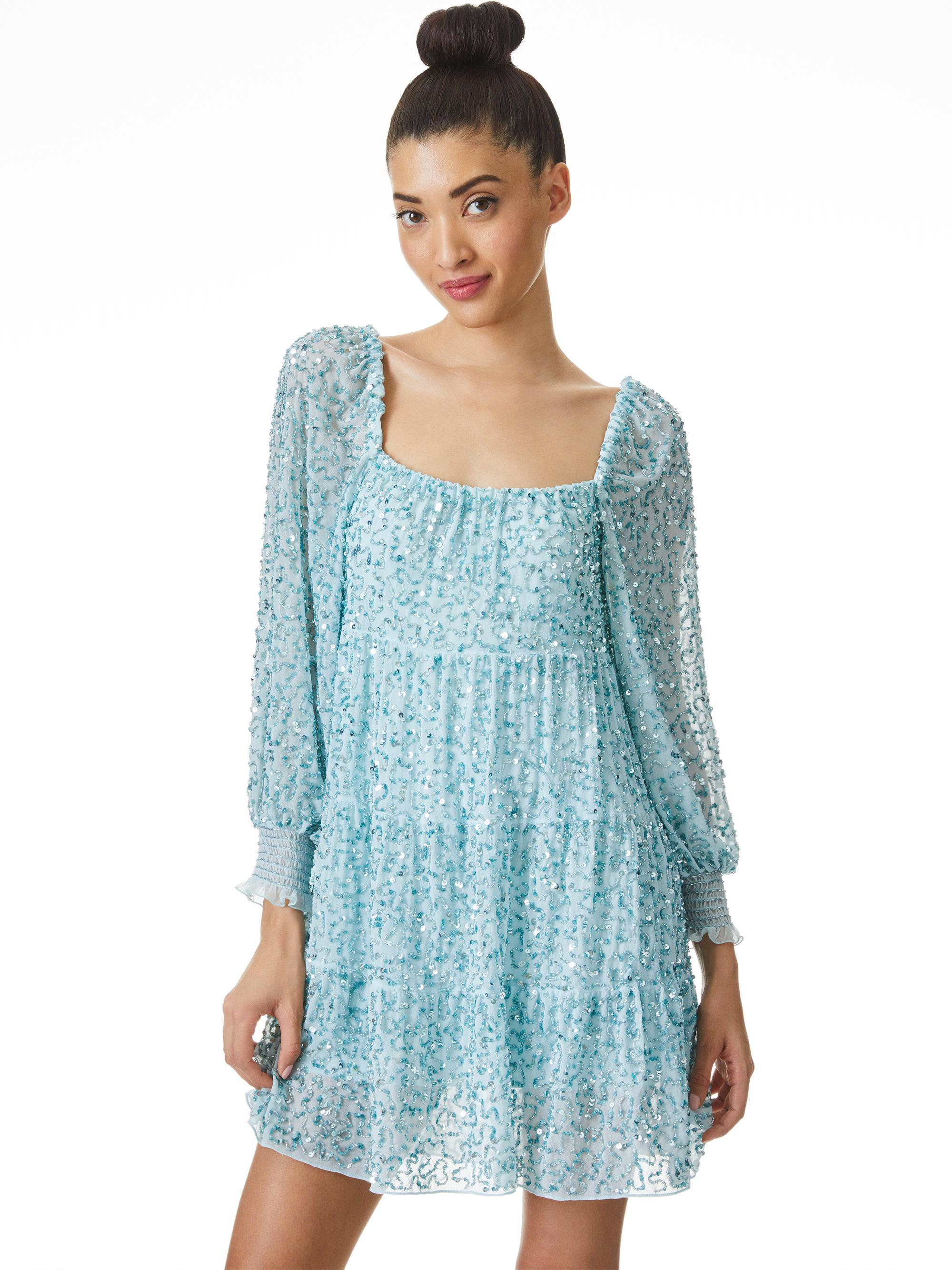 ROWEN SEQUIN EMBROIDERED MINI DRESS 2