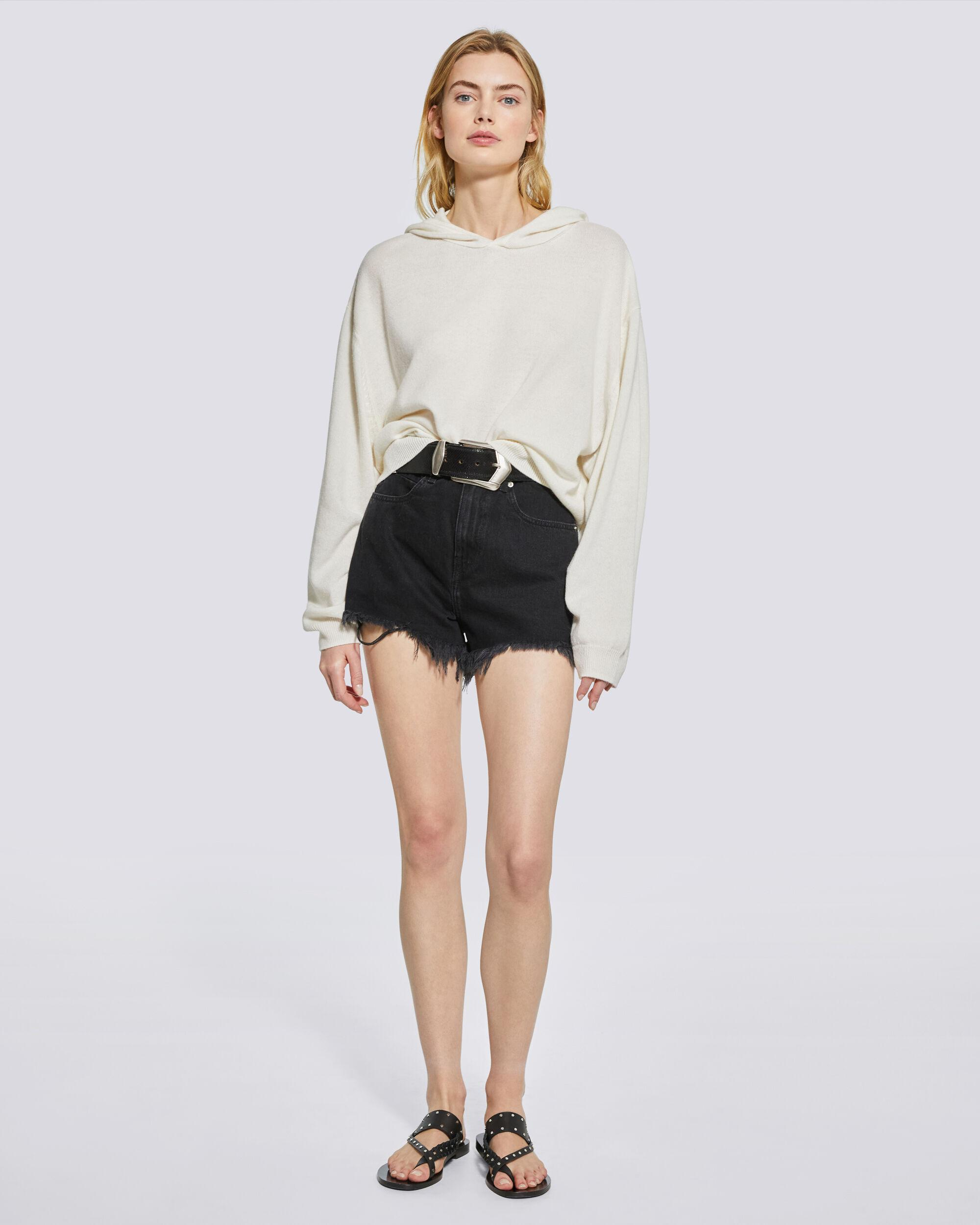 TIAGO COTTON AND CASHMERE HOODED SWEATSHIRT 1
