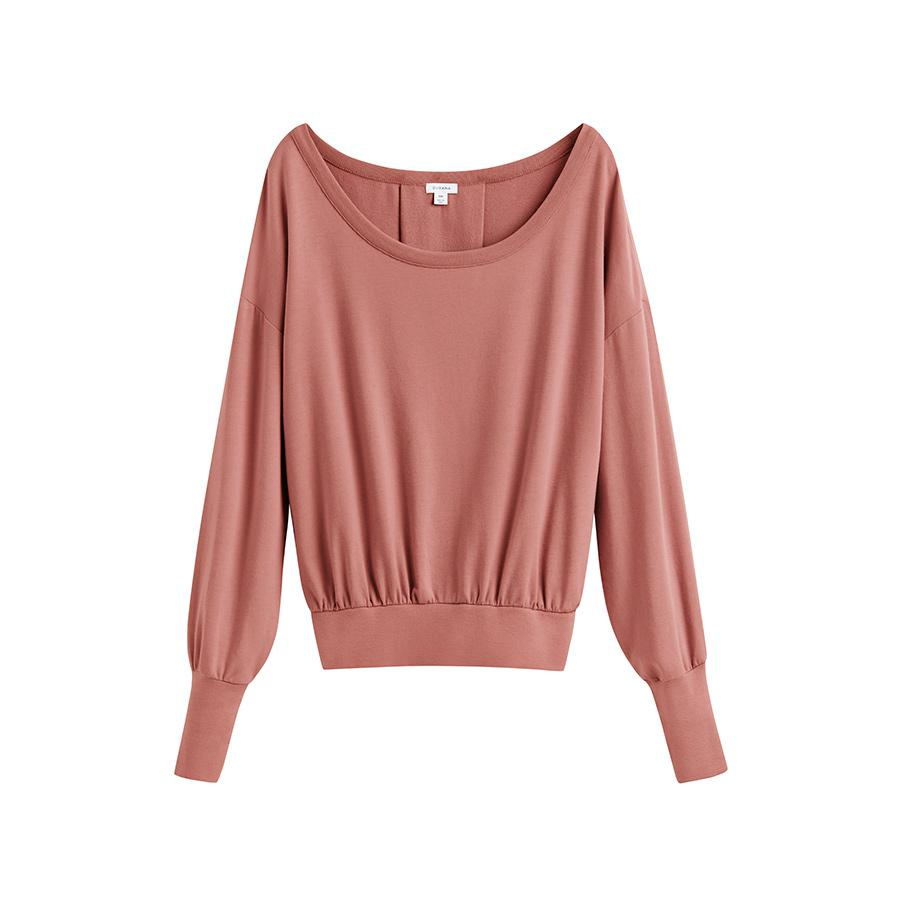 Women's French Terry Boatneck Sweatshirt in Passion Fruit | Size: X