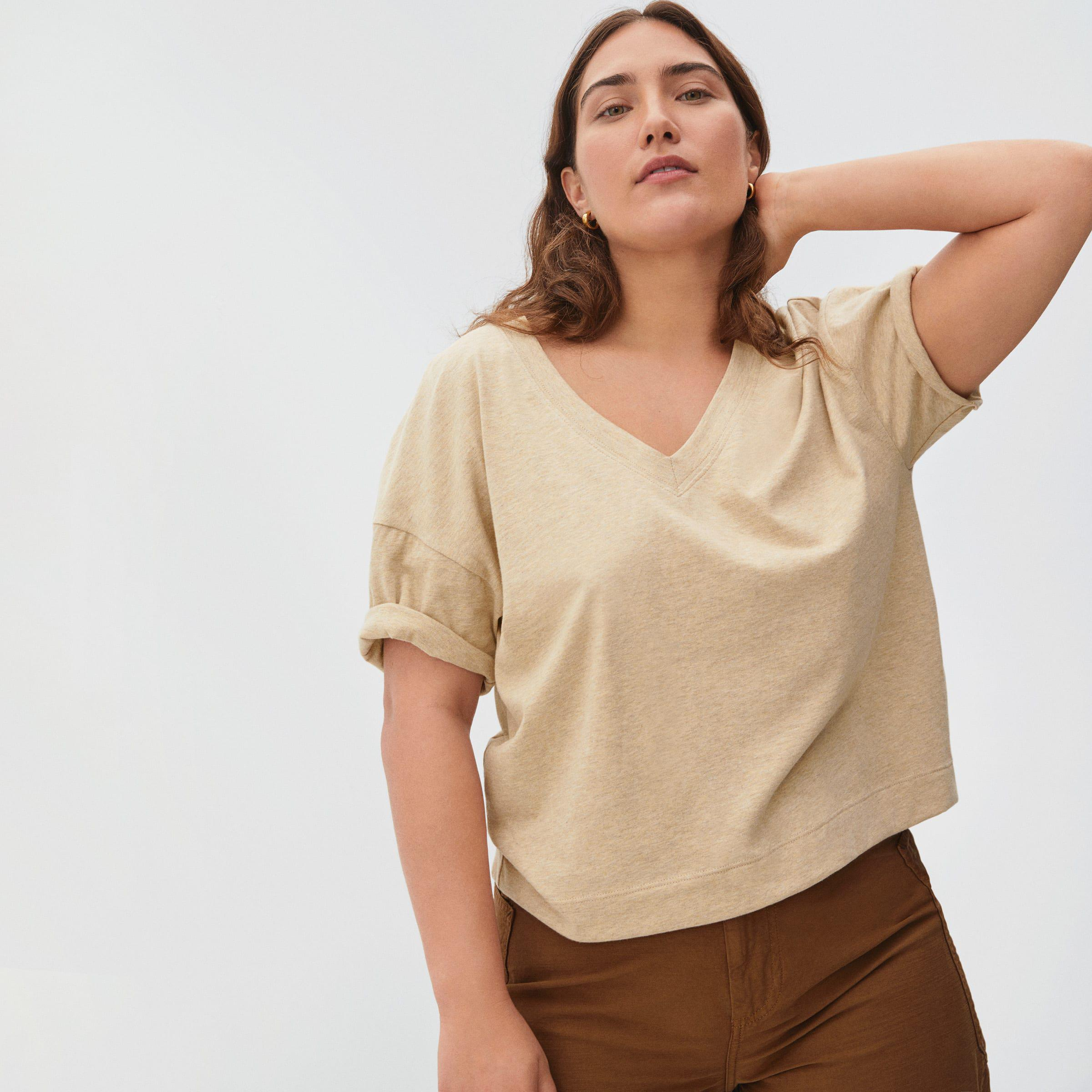 The Organic Cotton Slouchy V-Neck