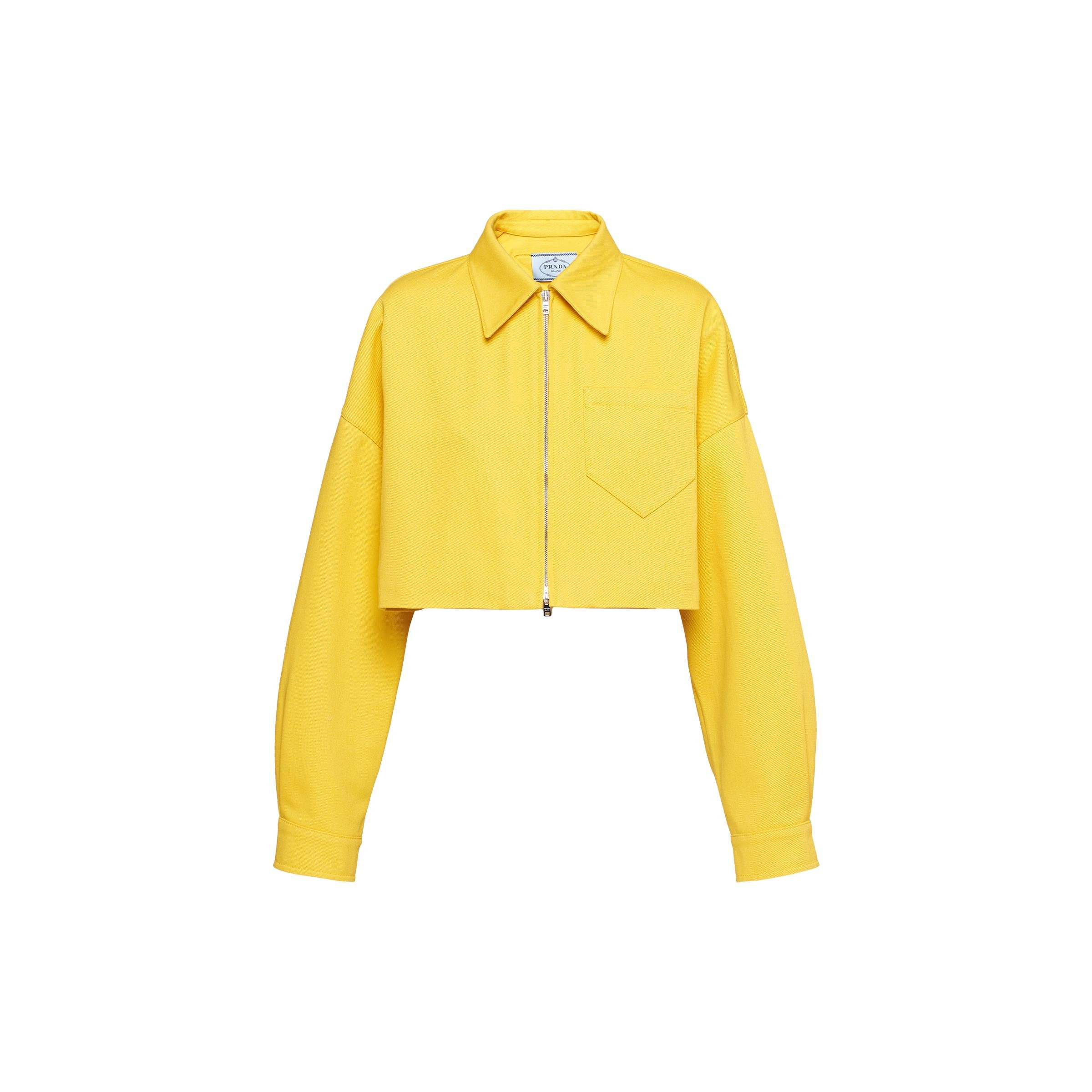 Cropped Drill Jacket Women Sunny Yellow