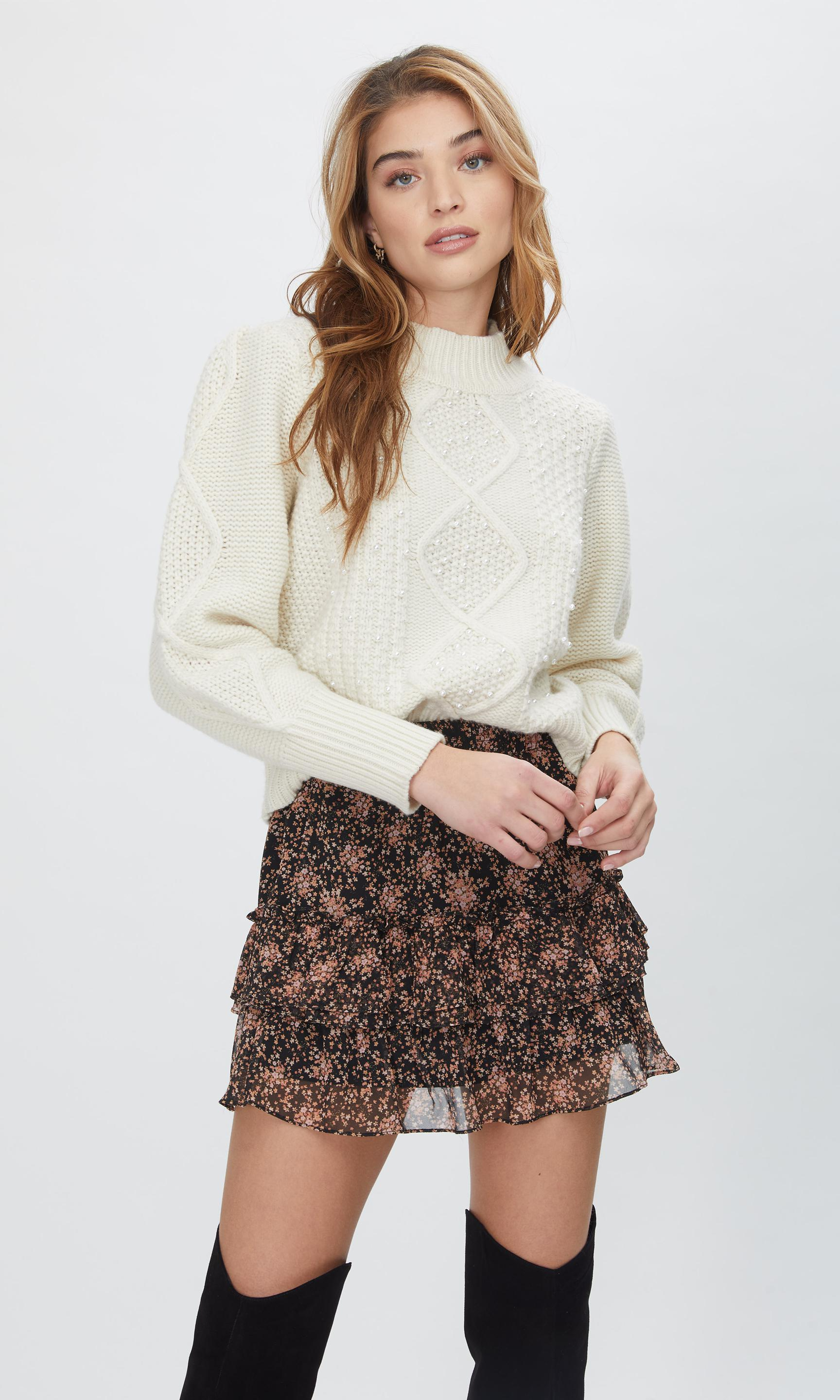 Aspen Pearl Cable Sweater 3