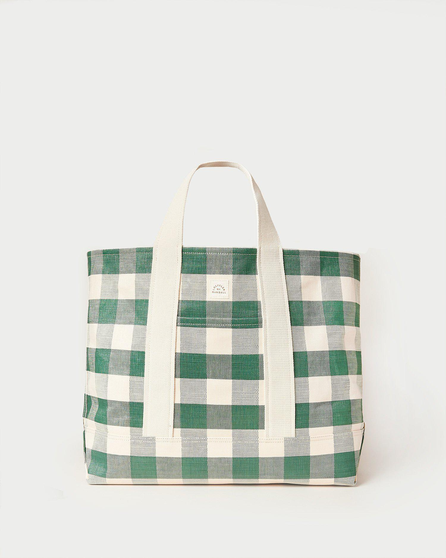Bodie Gingham Oversized Open Tote