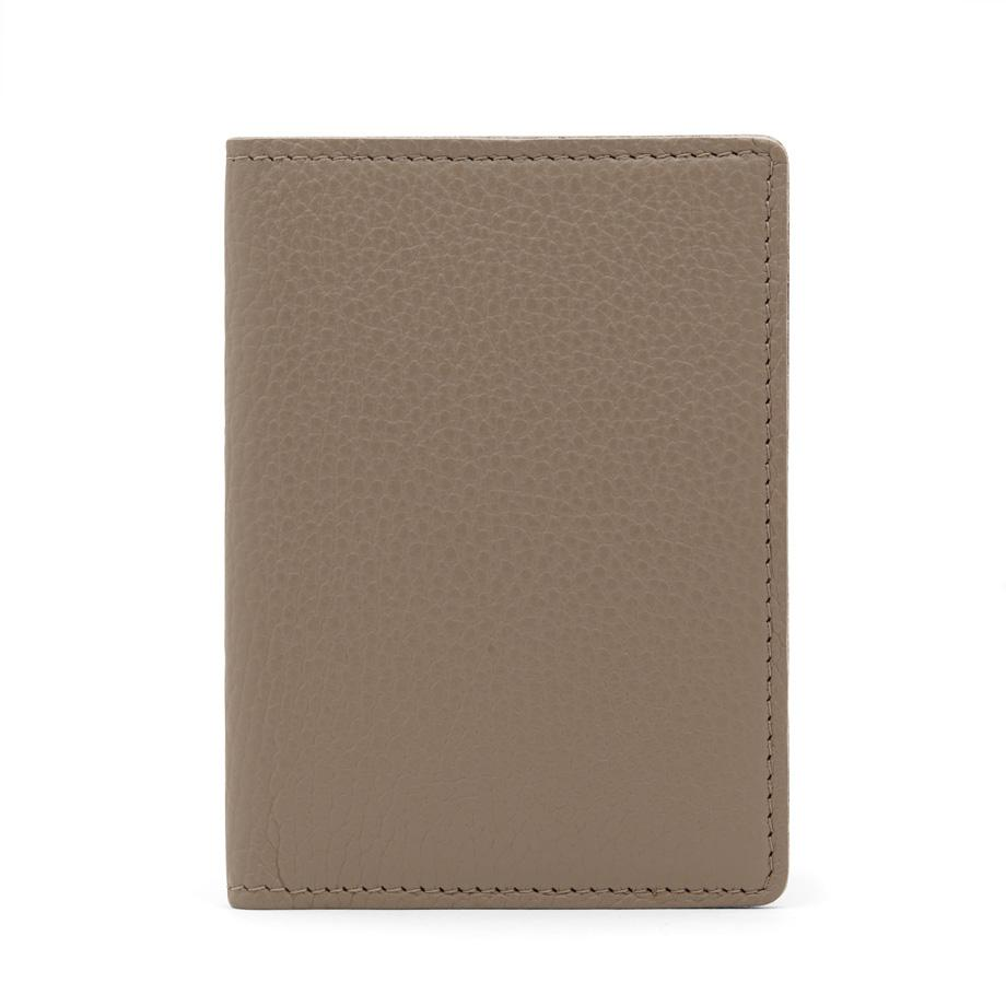 Women's Slim Leather Passport Case in Stone | Pebbled Leather by Cuyana