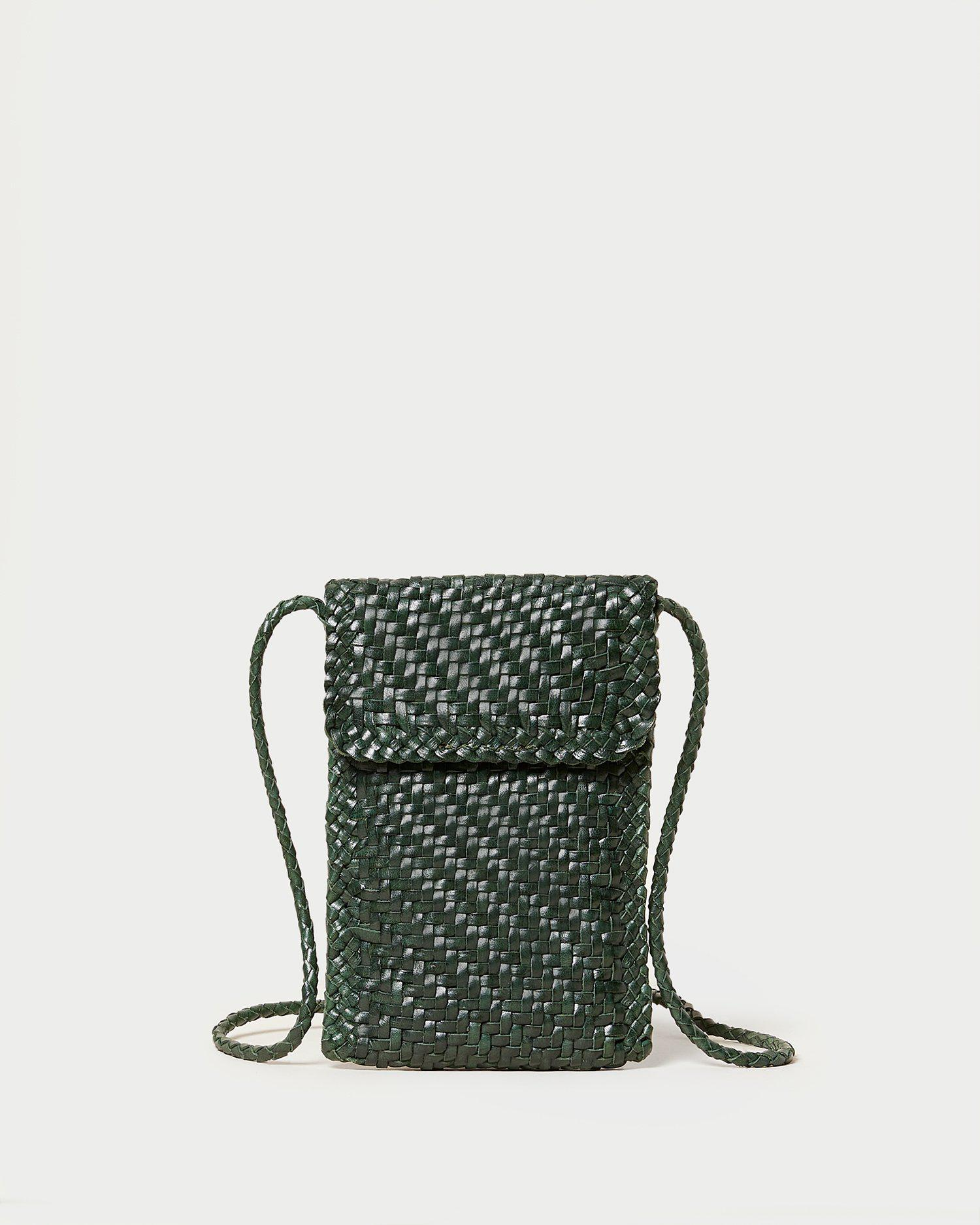 Nora Forest Woven Phone Crossbody