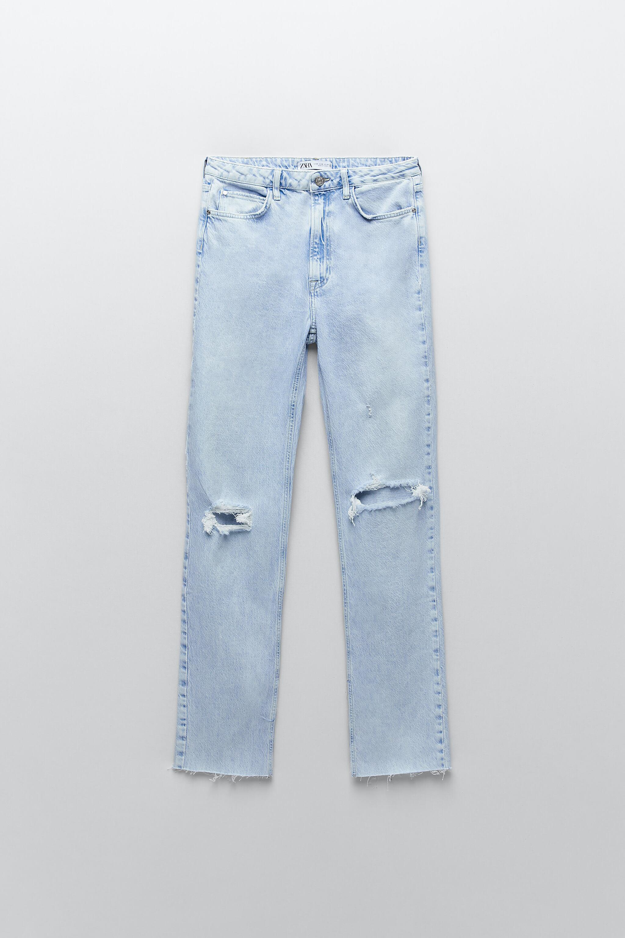 Z1975 FLARED RIPPED SLIM FIT JEANS 6
