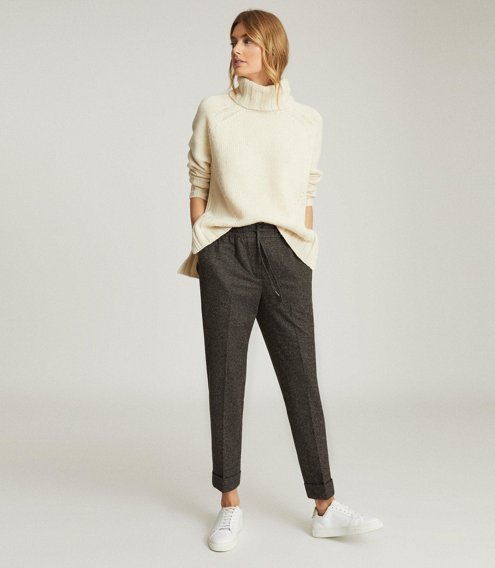 MADDIE - WOOL BLEND KNITTED JOGGERS