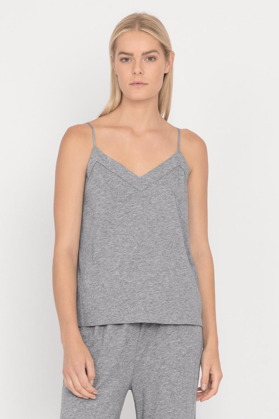 Women's Pima Cami Top in Heather Grey   Size: Large   Pima Modal Blend by Cuyana 1