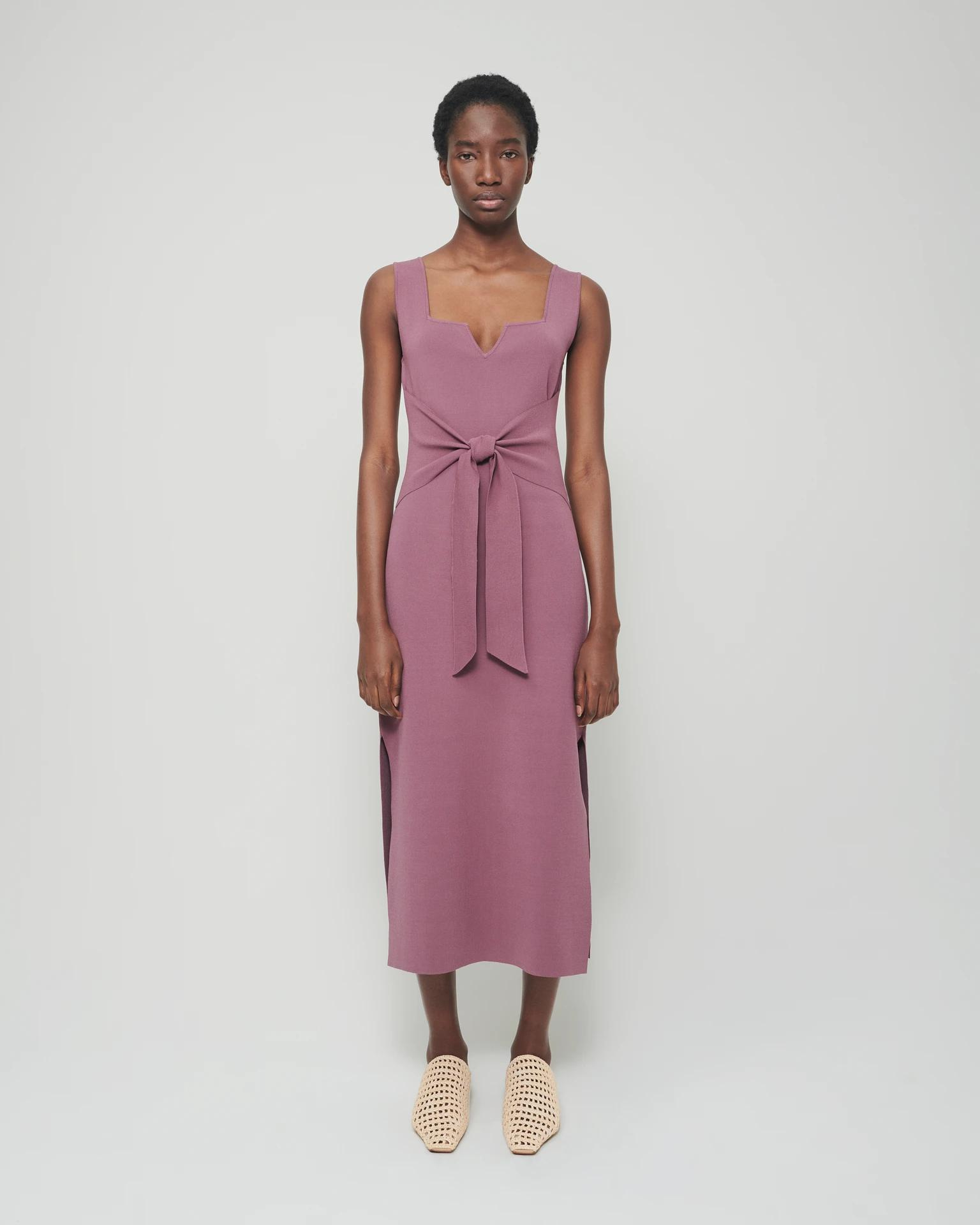 MELON - Knitted dress - Cocoa