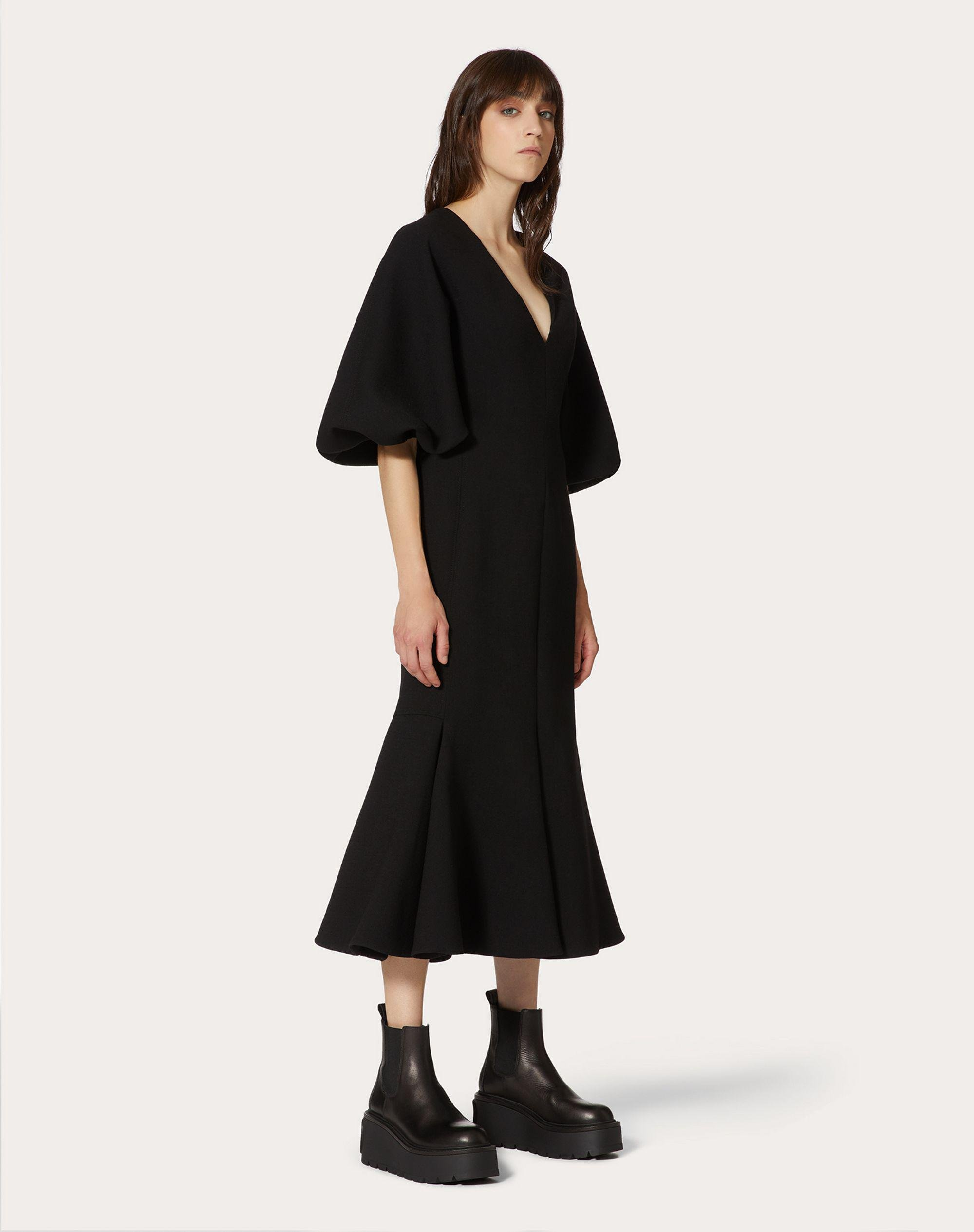 Stretch Double Crepe Wool Dress