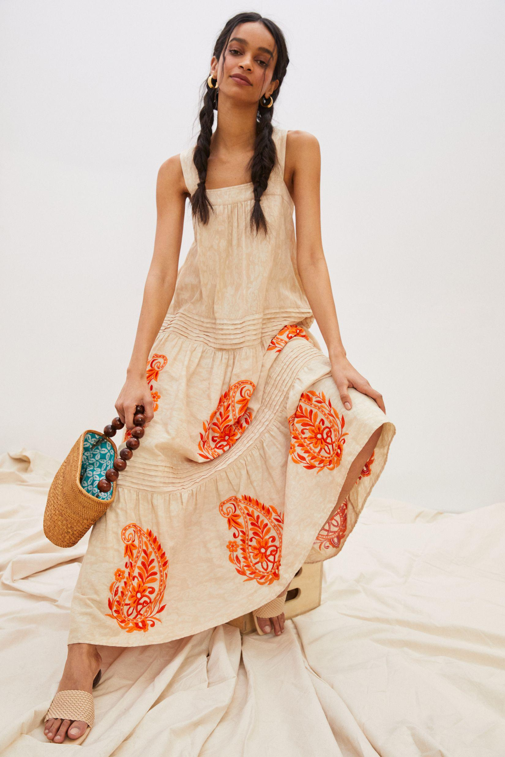 Felicity Embroidered Maxi Dress