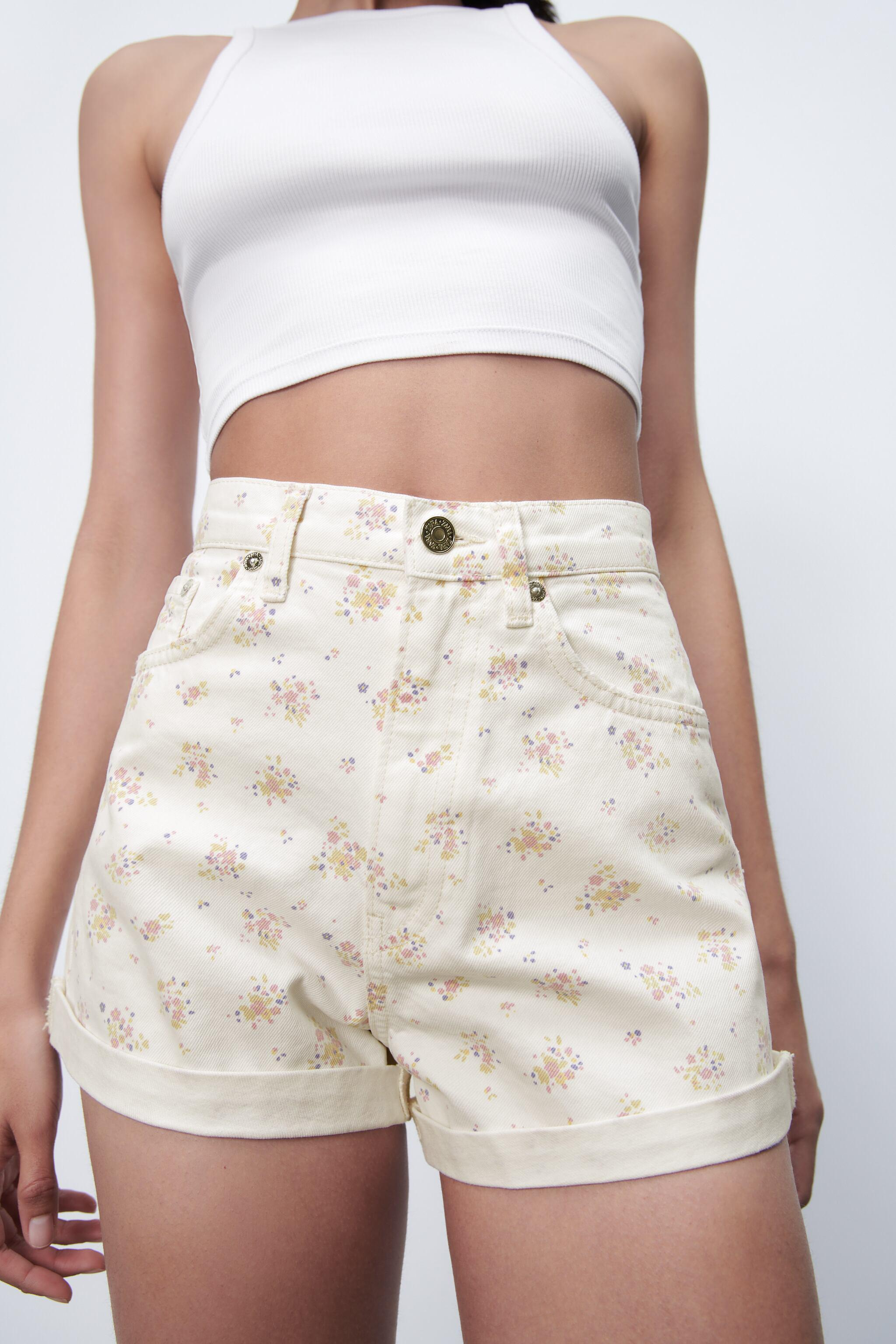 PRINTED MOM FIT ROLLER SHORTS 2