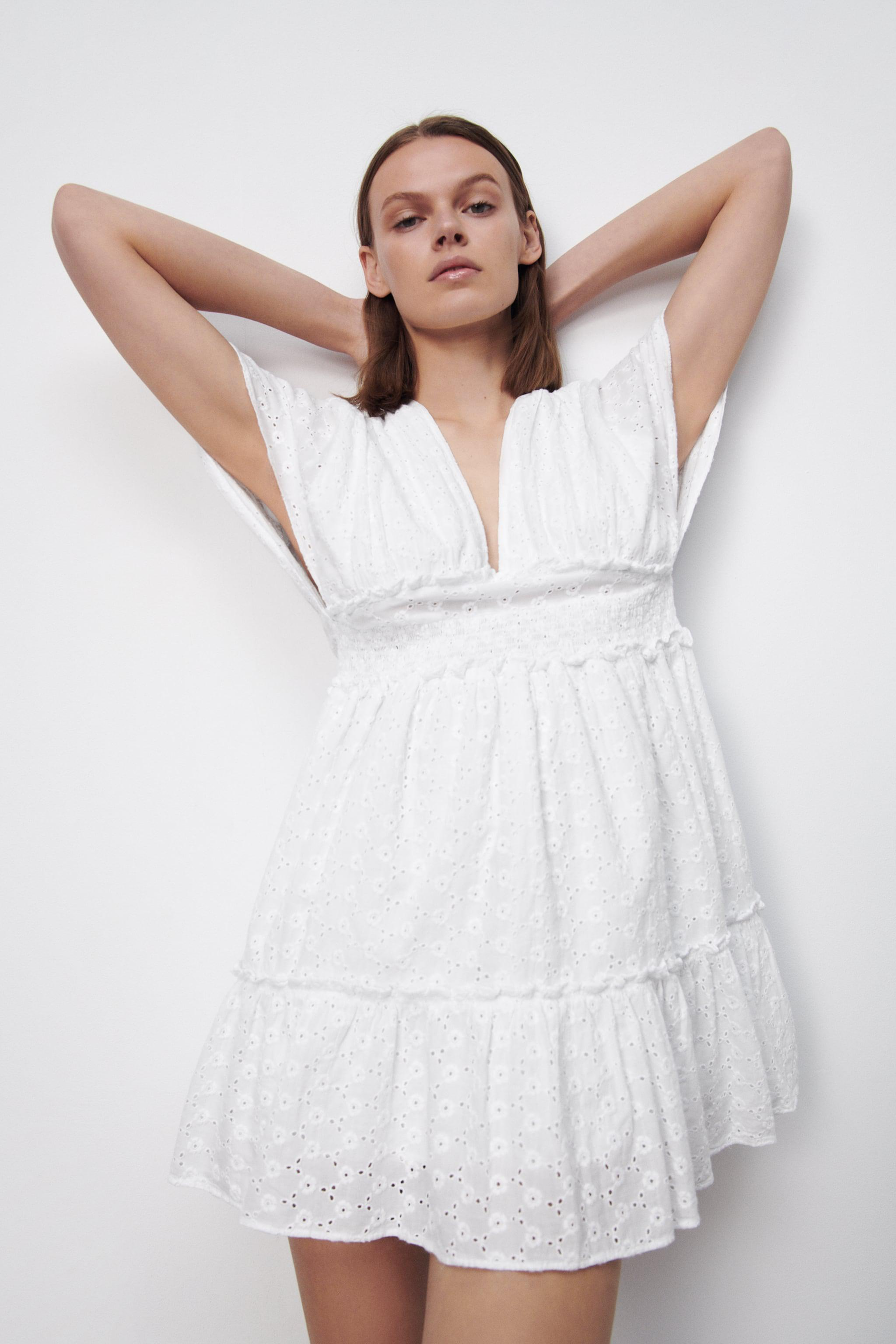 SHORT DRESS WITH OPENWORK EMBROIDERY 1