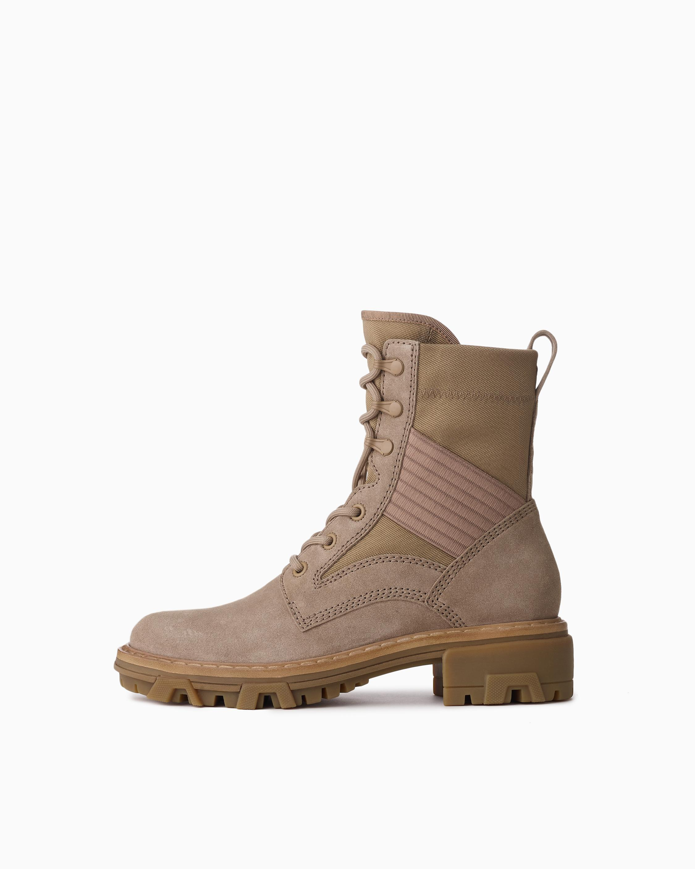 Shiloh lace up jungle boot - suede