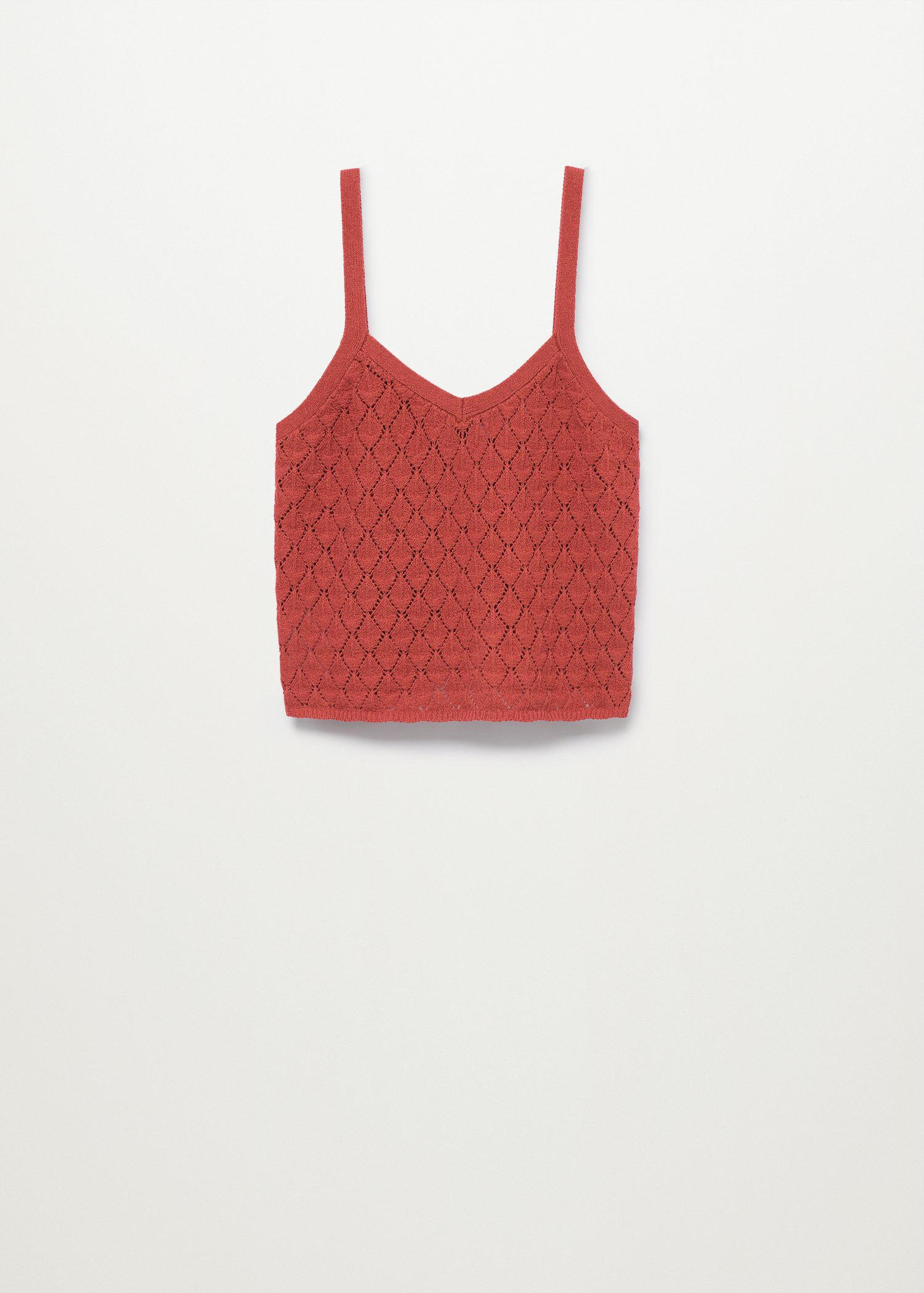 Knitted cropped top 6