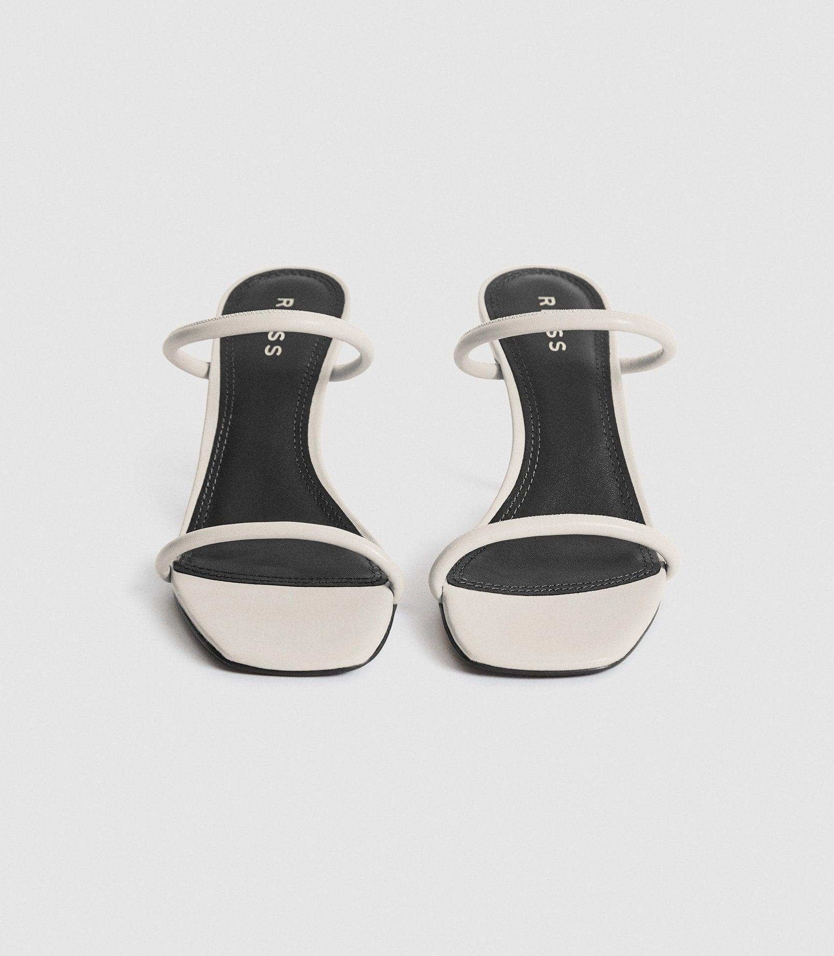MAGDA - LEATHER STRAPPY HEELED SANDALS 2