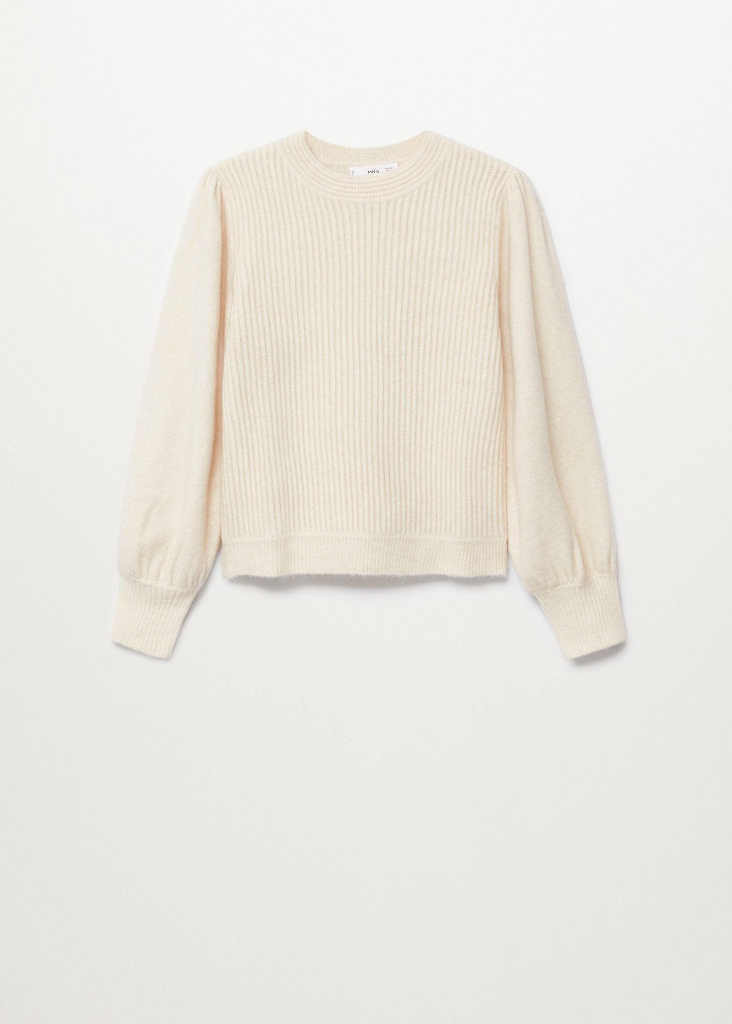 Sweater with puffed sleeves 8