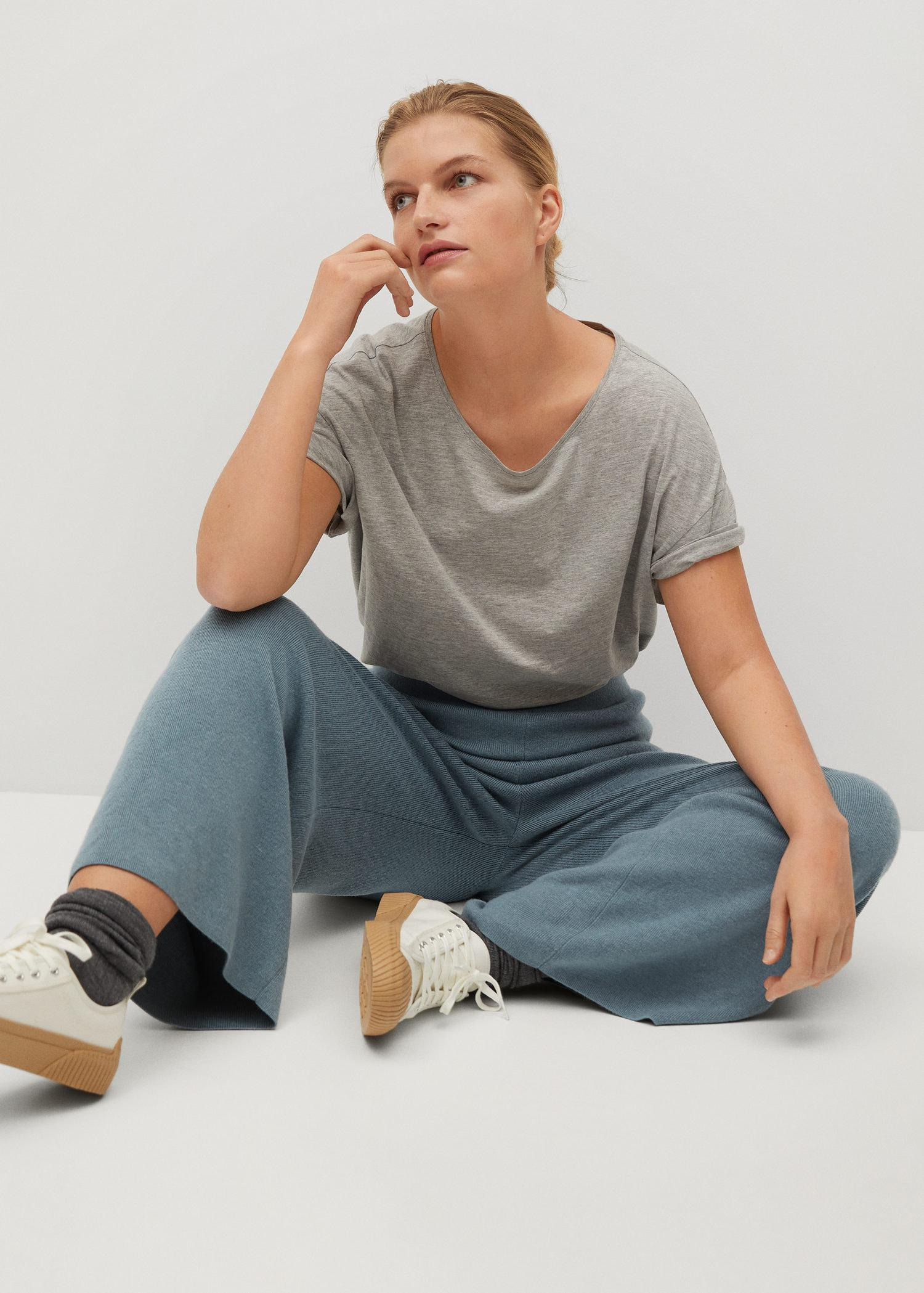 Knitted culotte trousers 4