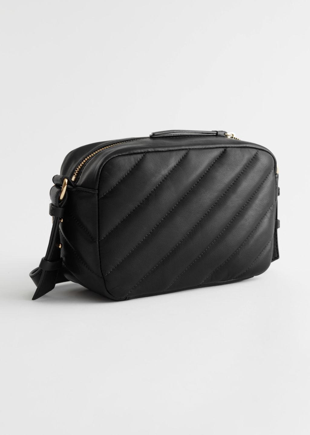 Quilted Stripe Leather Bag