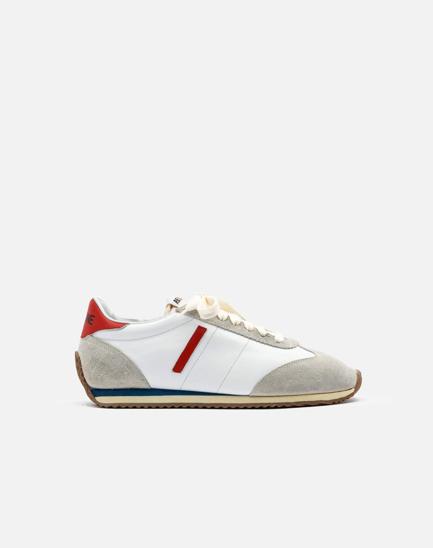 70s Runner Shoe - White with Red