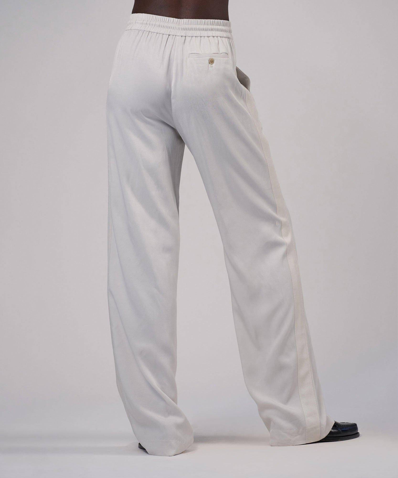 Viscose Twill Wide Leg Pull-On Pant - Gesso 2