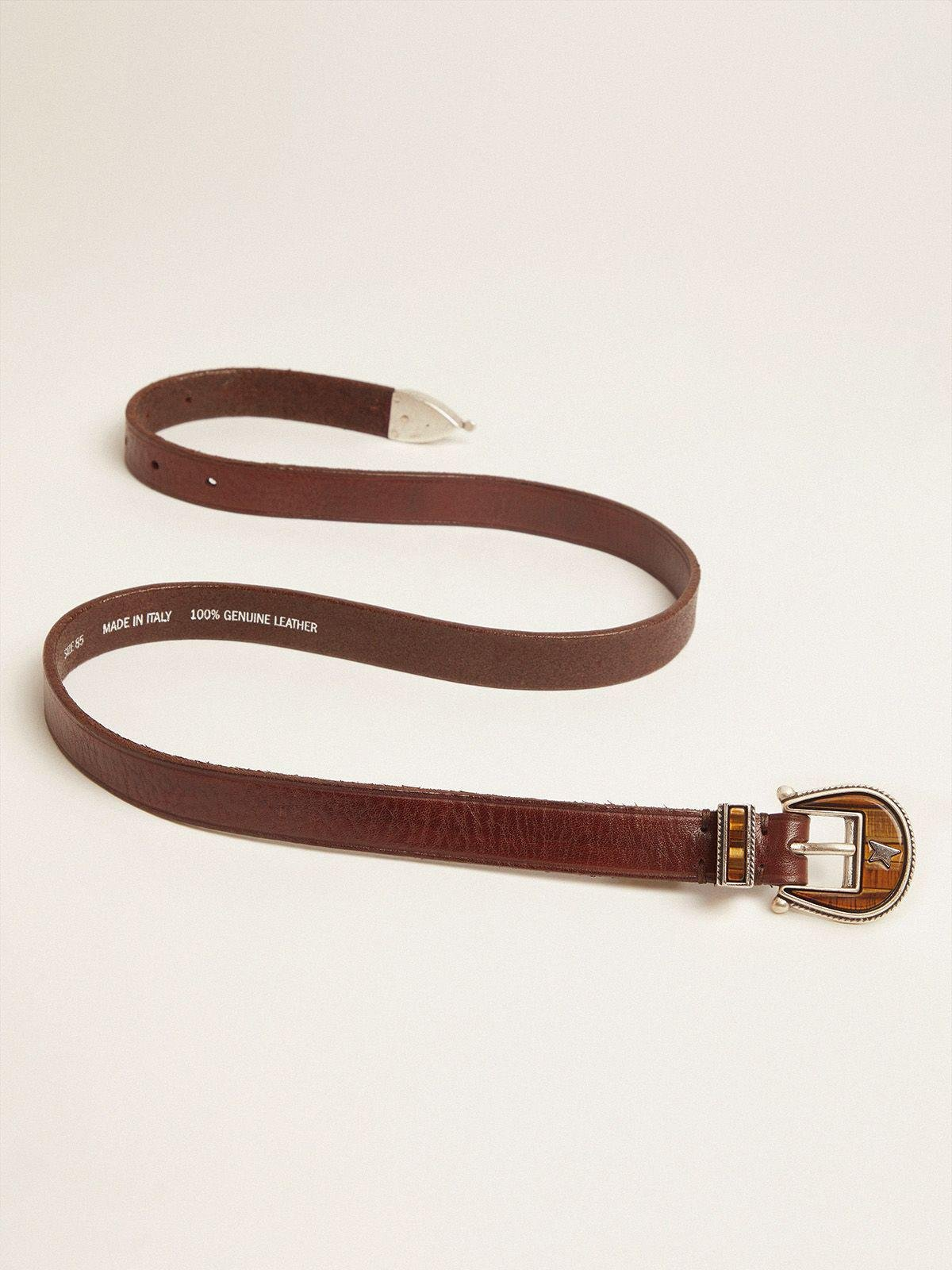 Dark brown Rodeo belt with tone-on-tone buckle 2