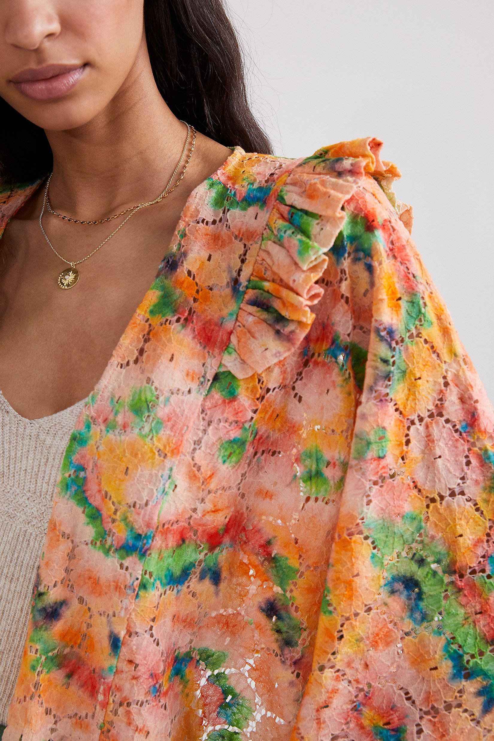 Cropped Floral Lace Shrug 2