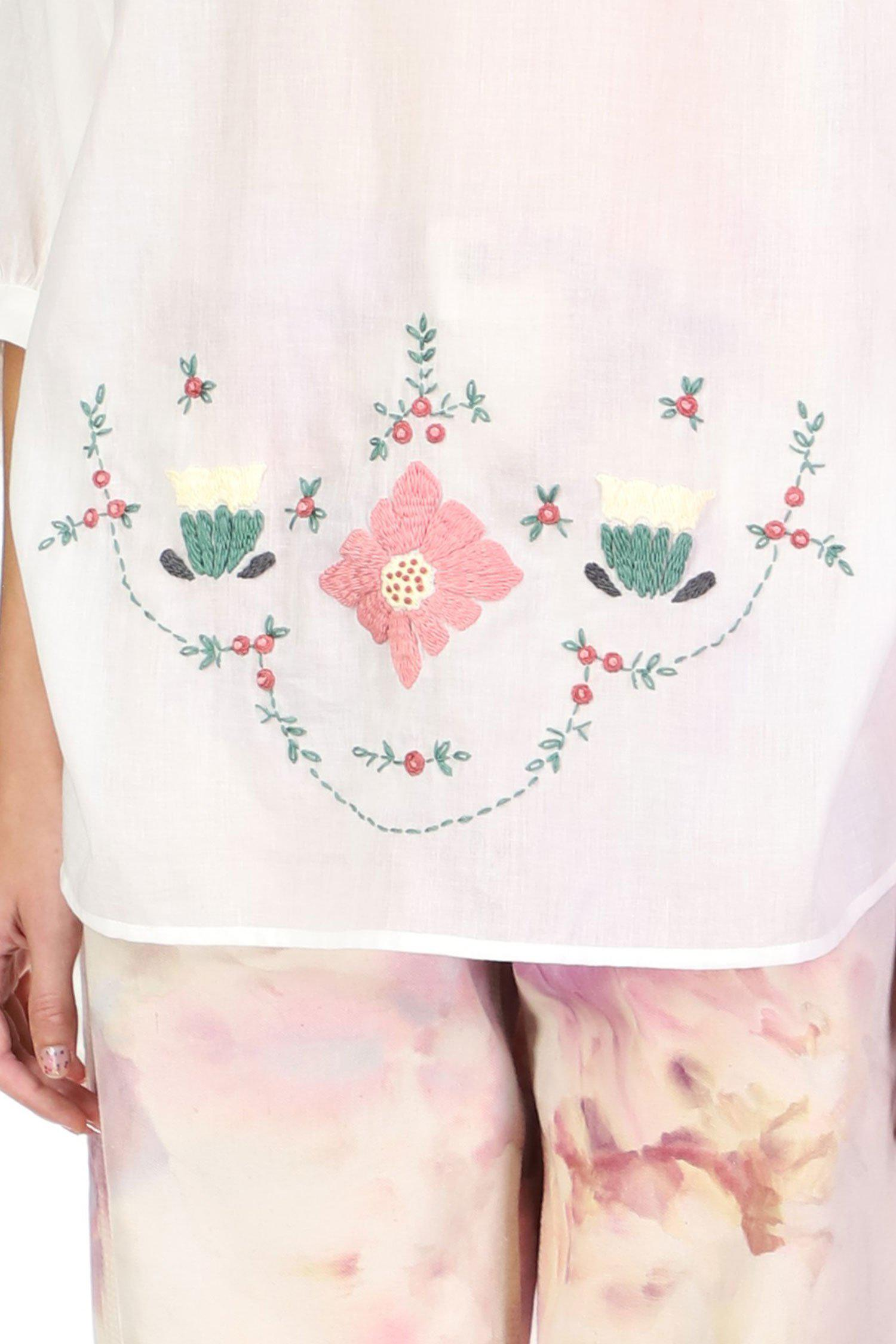 Poppies Embroidered Tunic 3