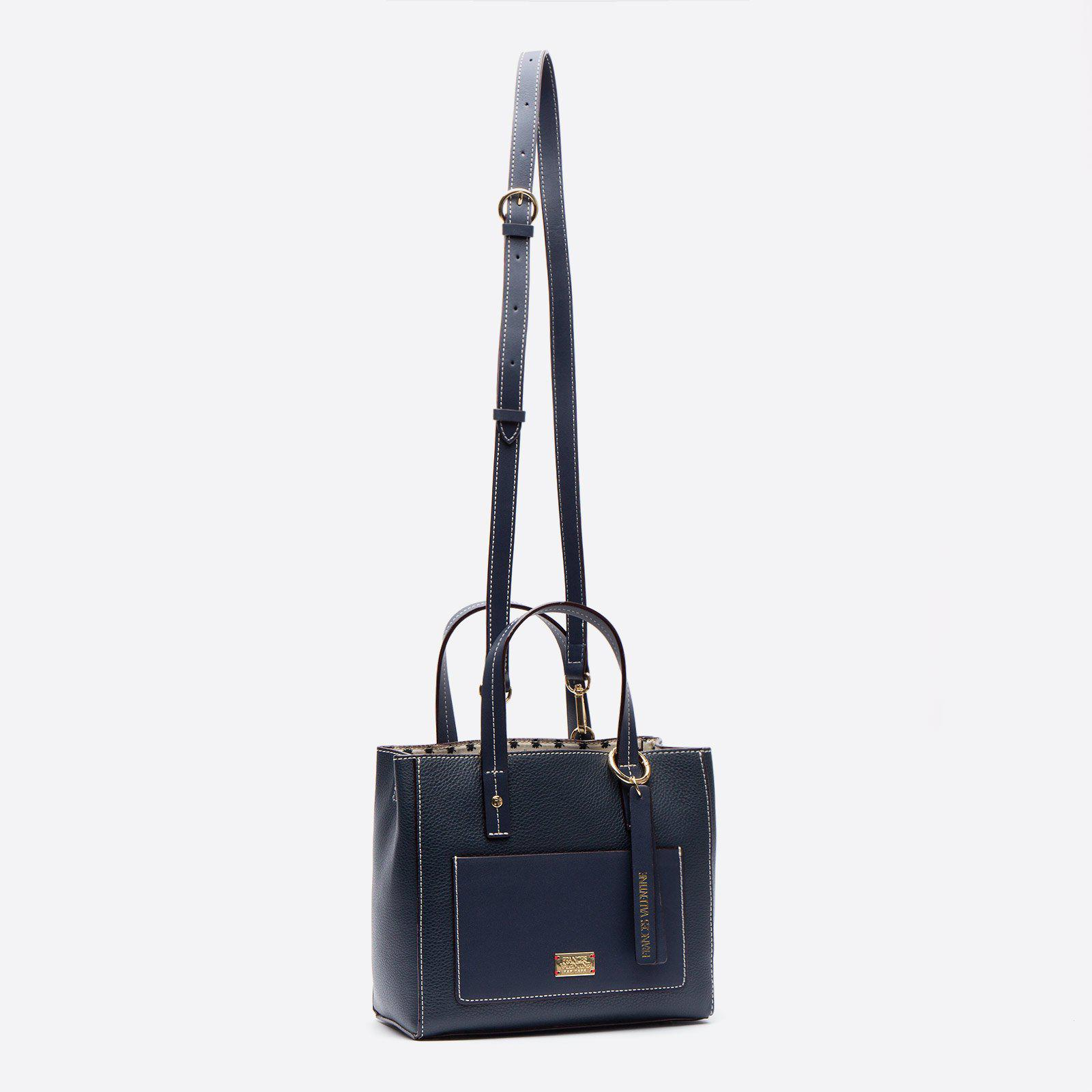 Small Chloe Tumbled Leather Navy 1