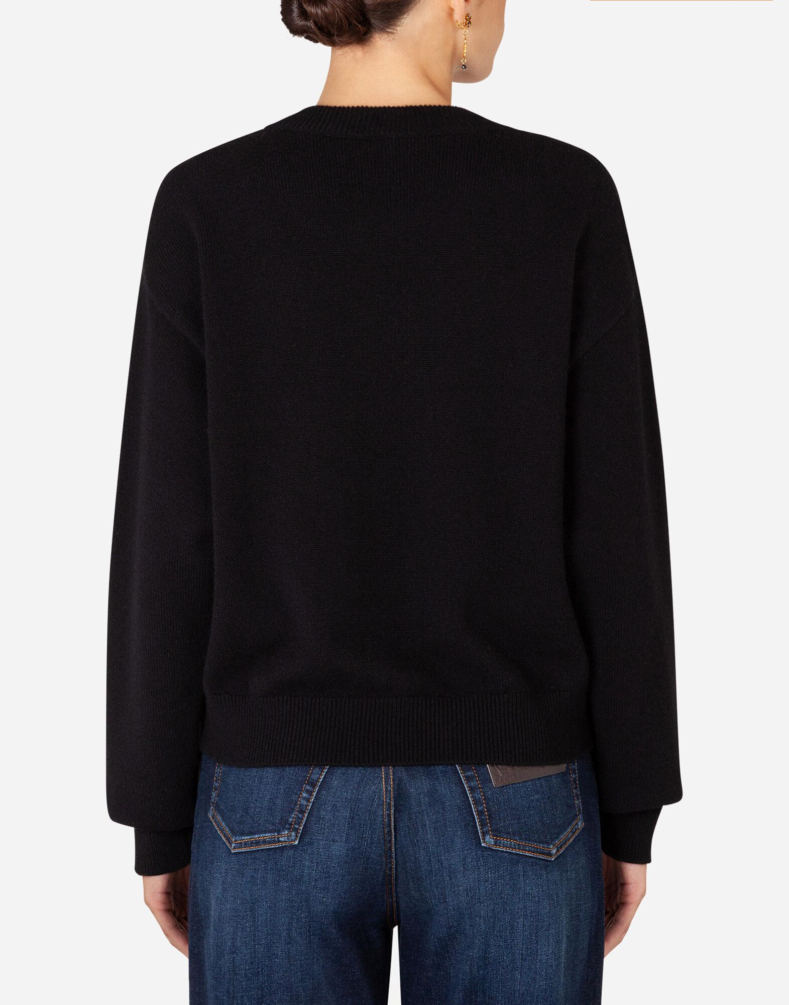 Cashmere sweater with logo intarsia 1