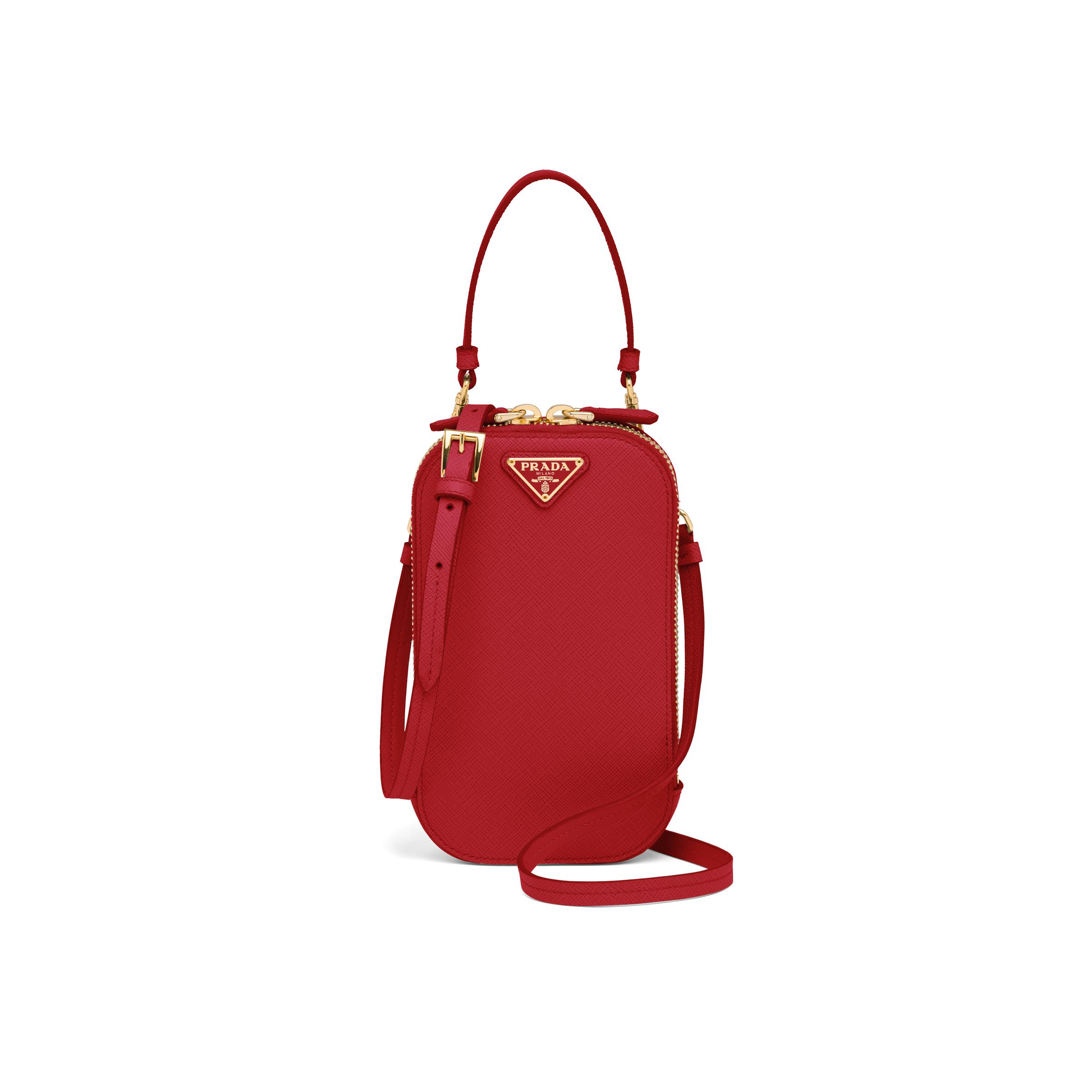 Saffiano Mini-bag Women Fiery Red