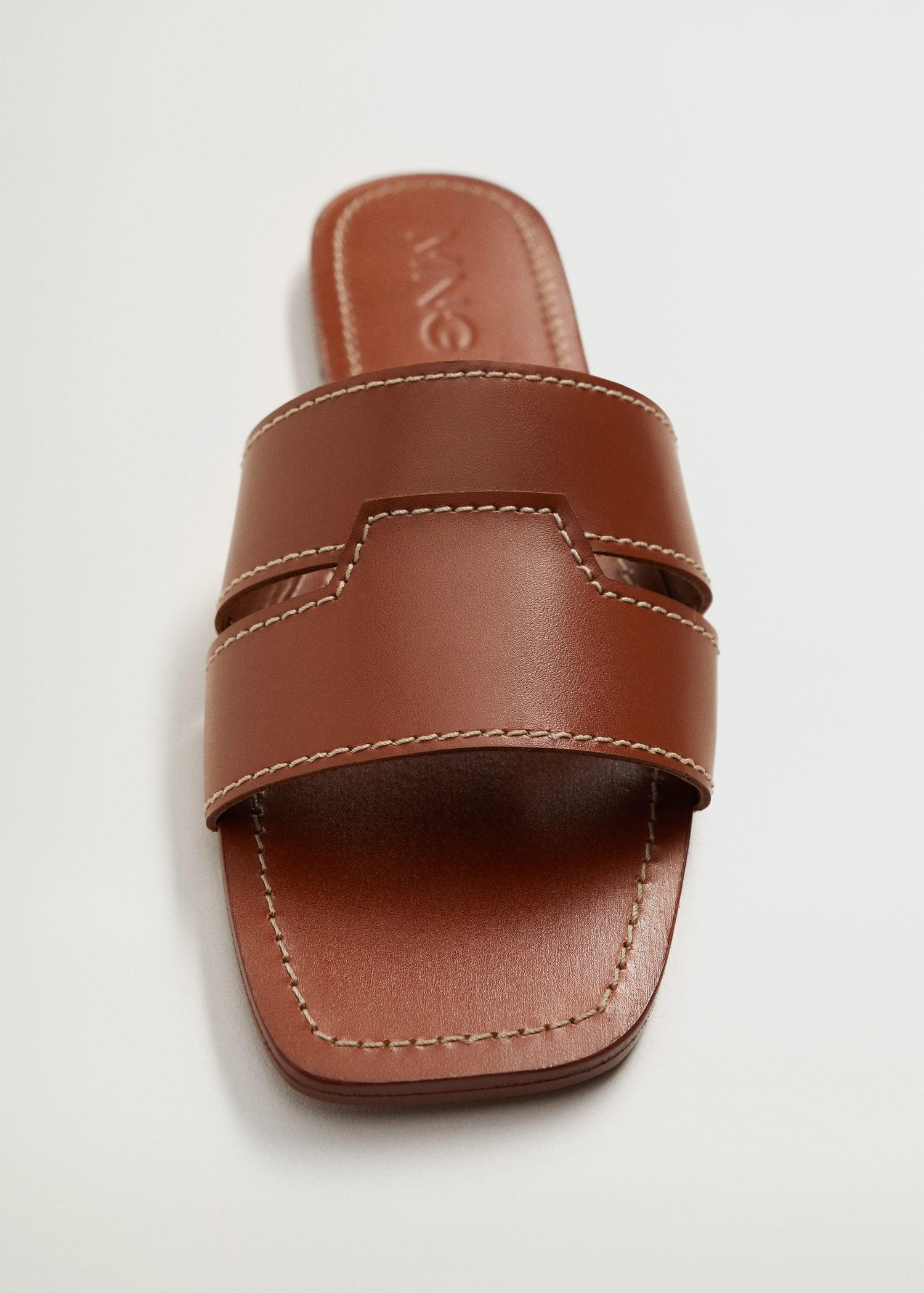 Leather straps sandals 4