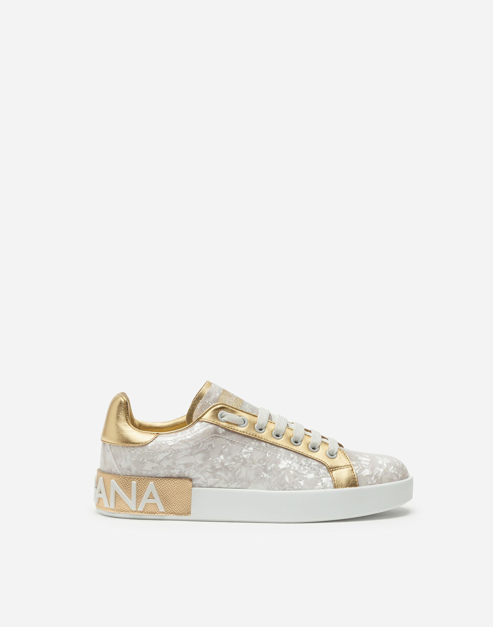 Portofino sneakers in mother-of-pearl print patent leather