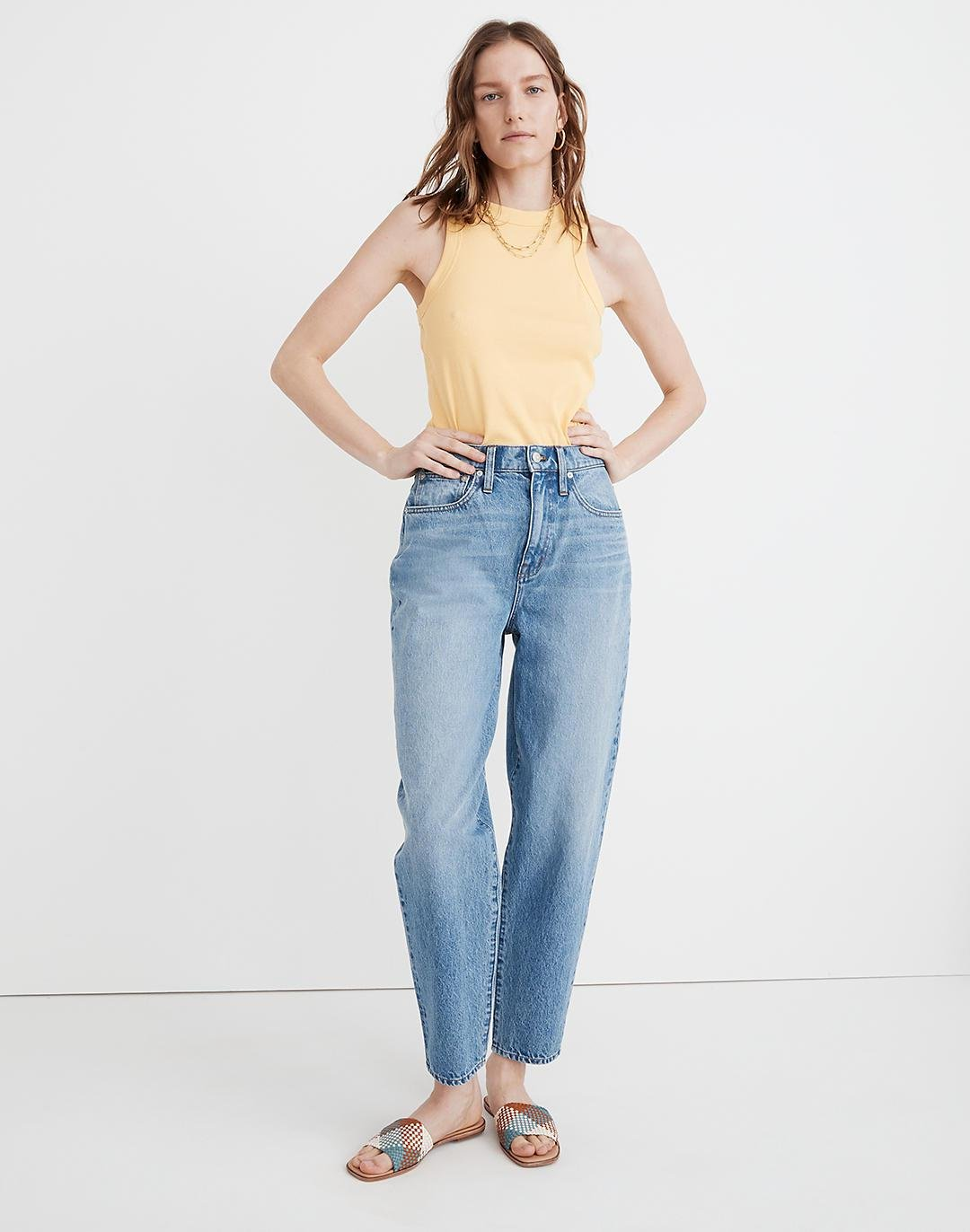 Baggy Tapered Jeans in Markwood Wash