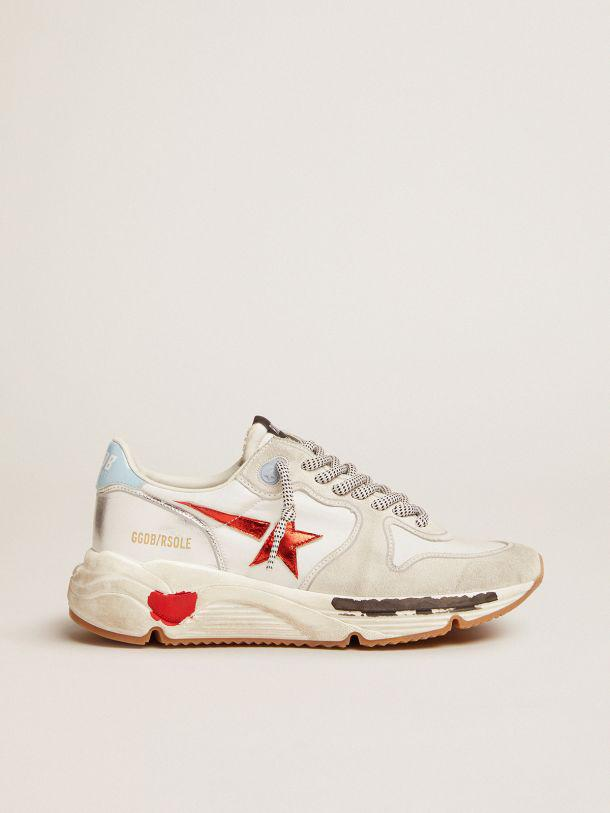 Running Sole sneakers in nylon and suede with red laminated leather star