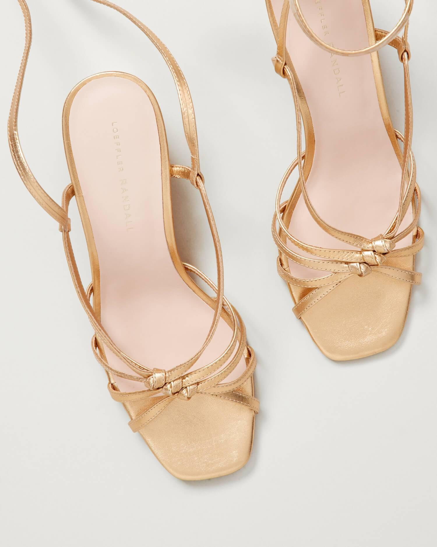 Libby Knotted Wrap Sandal Gold 2