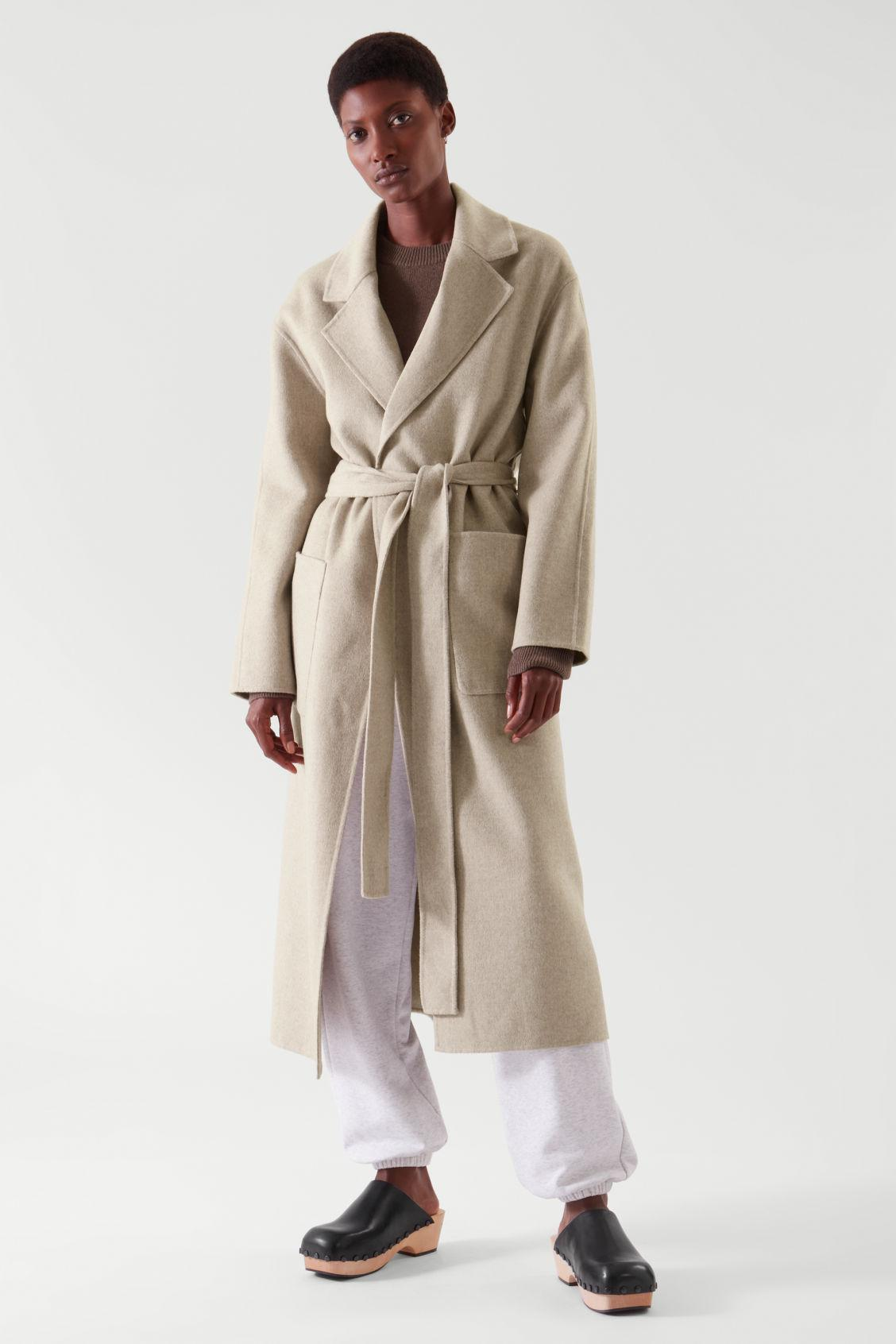 BELTED WRAP COAT 2