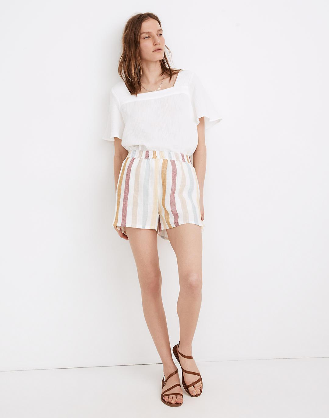 Madewell x LAUDE the Label Everyday Shorts in Painter Stripe