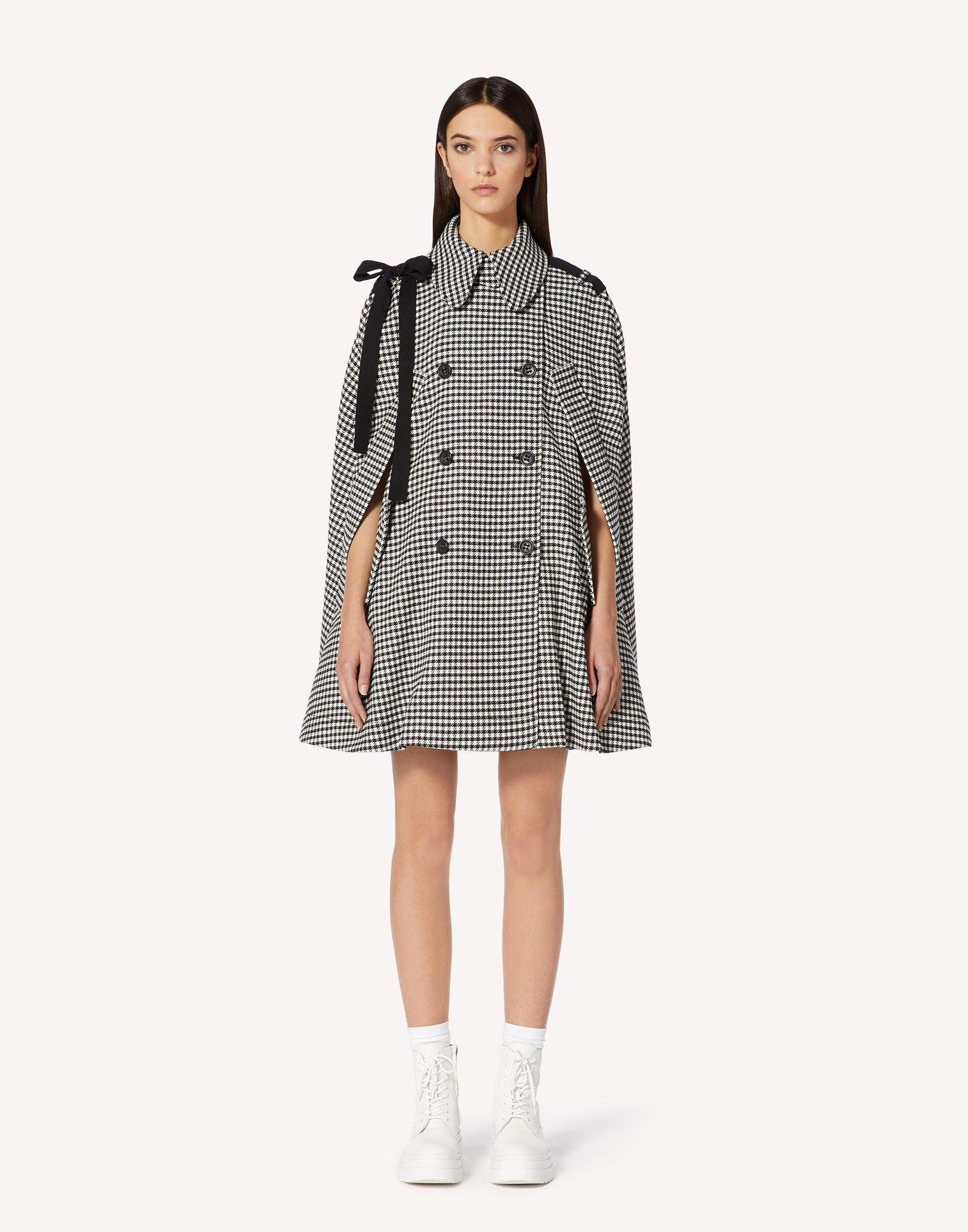 VICHY MOTIF CAPE WITH BOW DETAIL