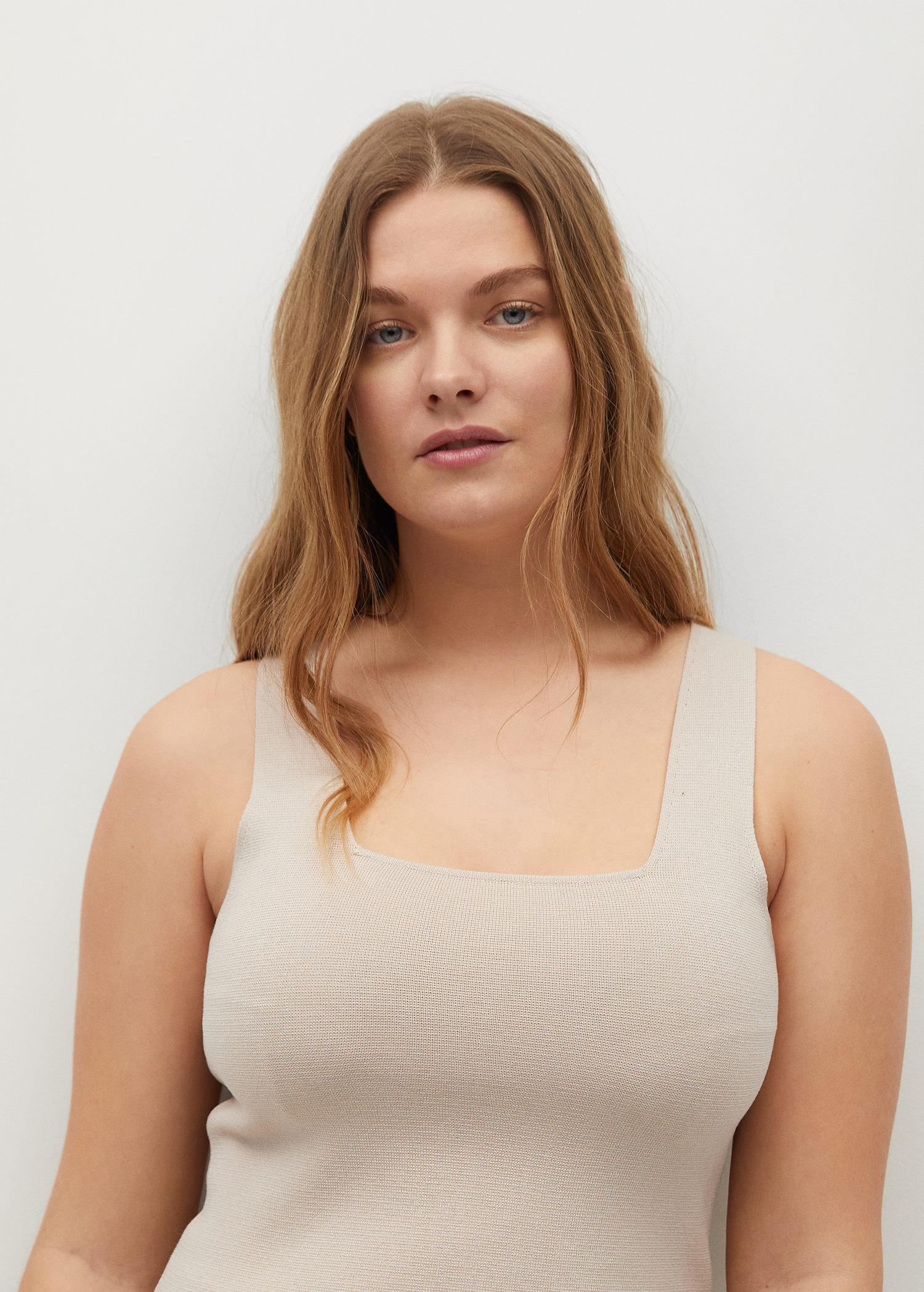 Knitted top with wide straps 3