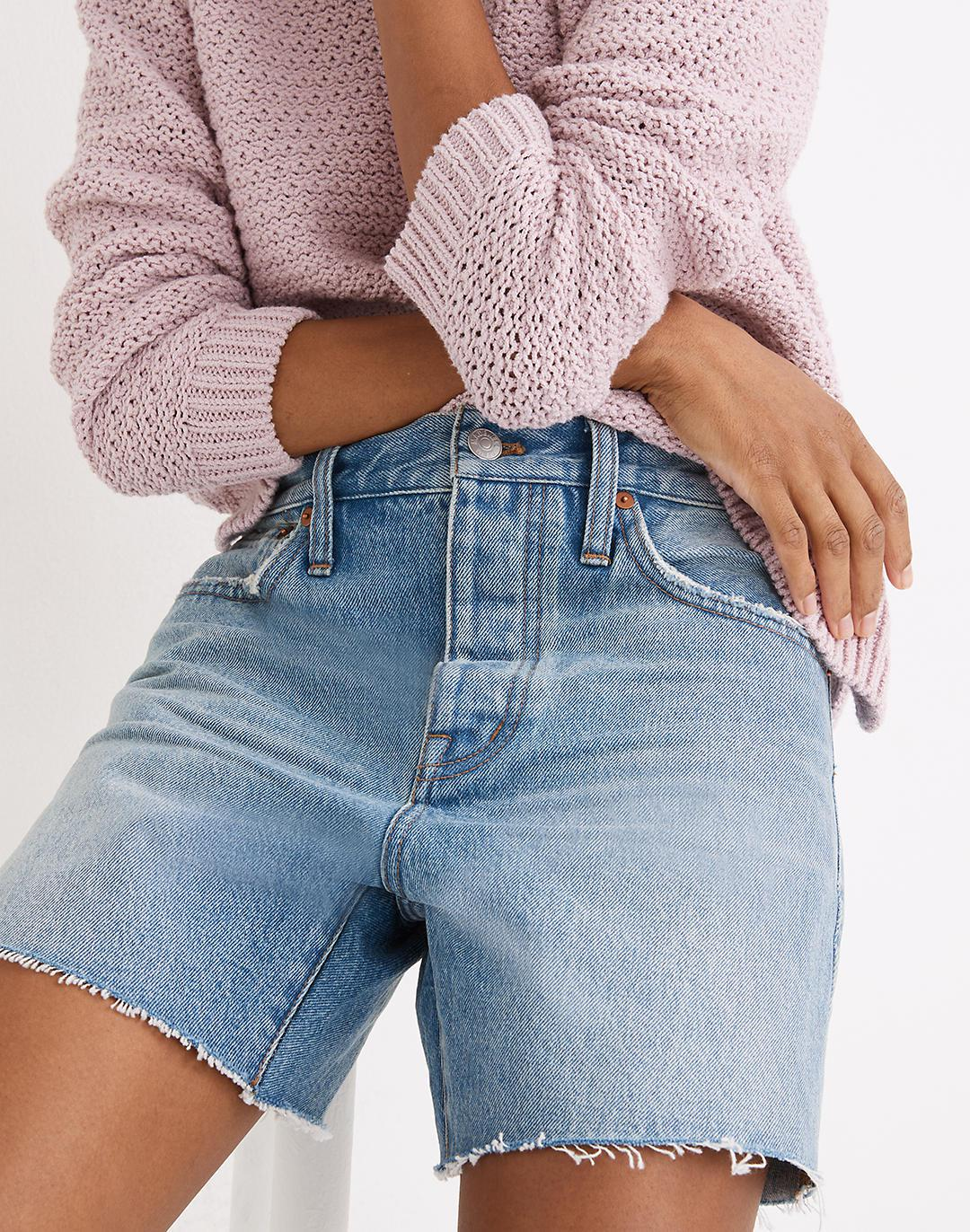Relaxed Mid-Length Denim Shorts in Scottsburg Wash 2