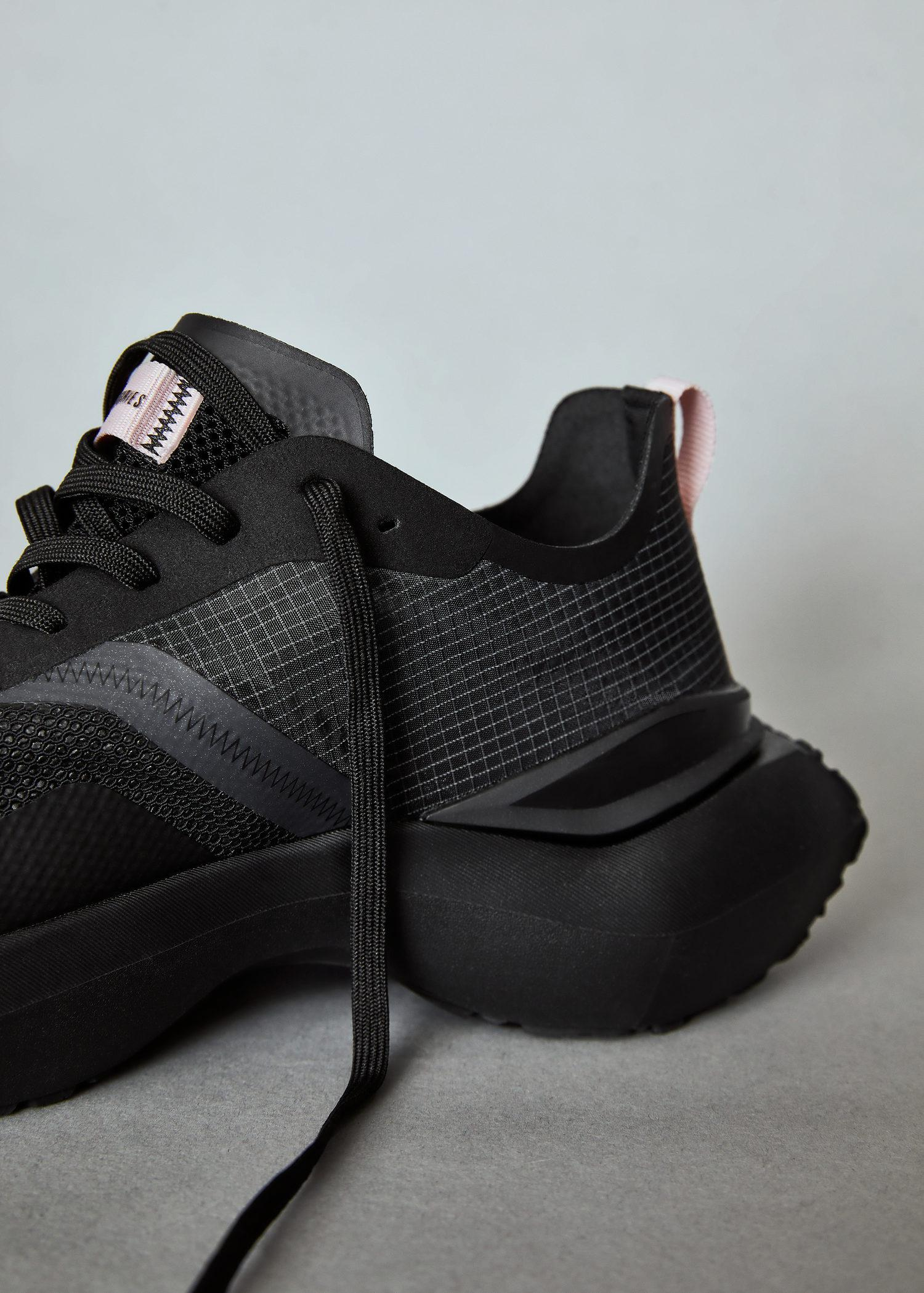 Shoes with transparent panels 6