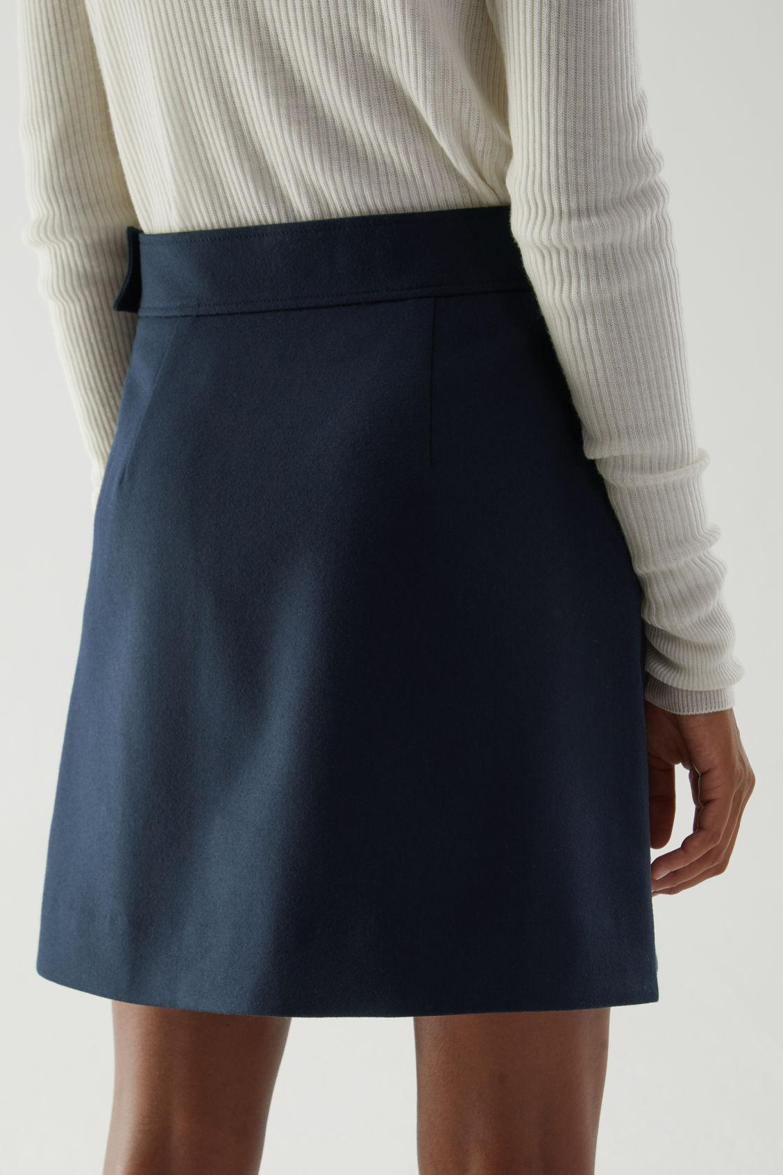 PLEATED A-LINE WOOL-CASHMERE MINI SKIRT 4
